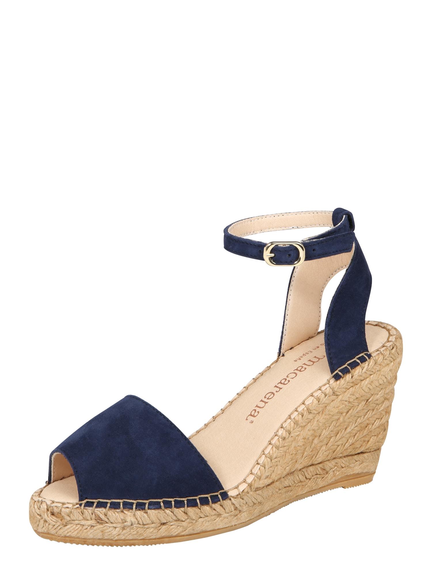 Páskové sandály Carla 92 marine modrá MACARENA