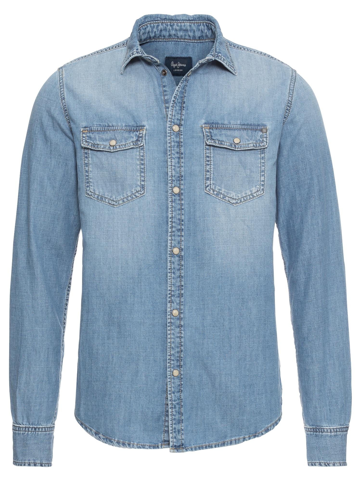 Pepe Jeans Heren Overhemd HAMMOND blue denim