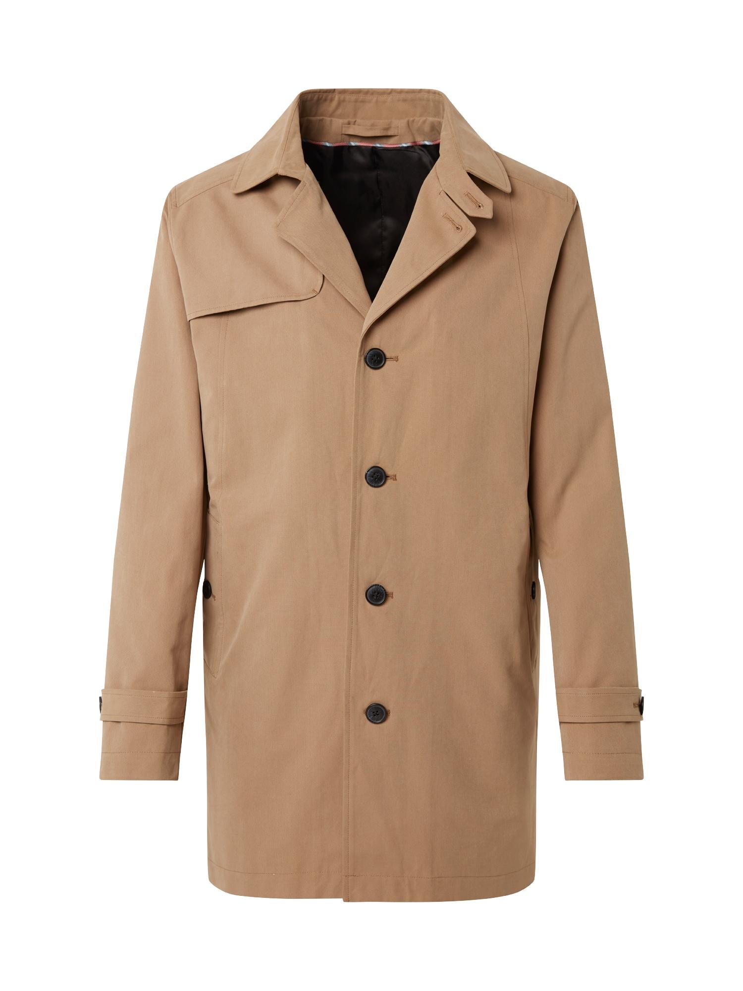 Přechodný kabát Times sépiová SELECTED HOMME