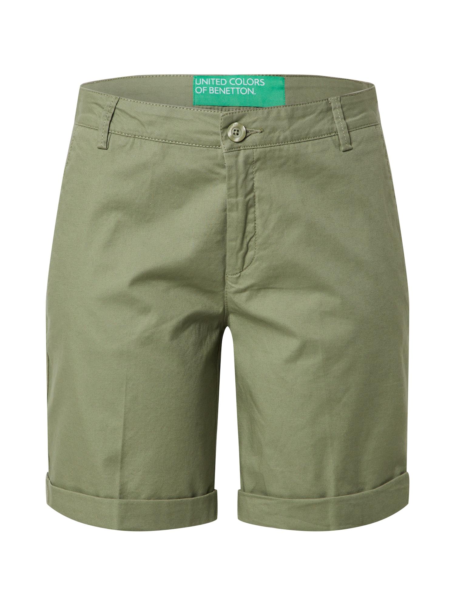 UNITED COLORS OF BENETTON Chino kalhoty  olivová