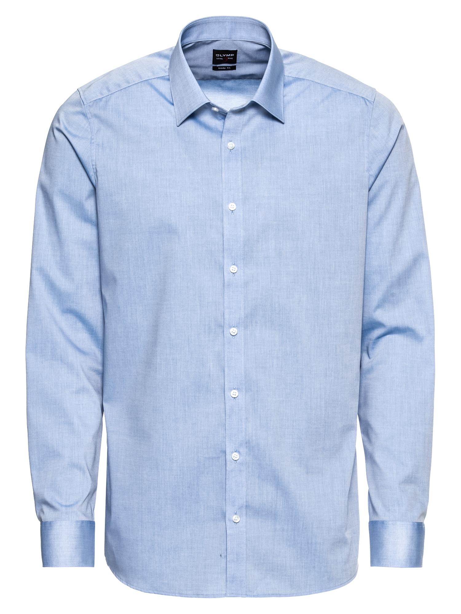 Společenská košile Level 5 Chambray marine modrá OLYMP