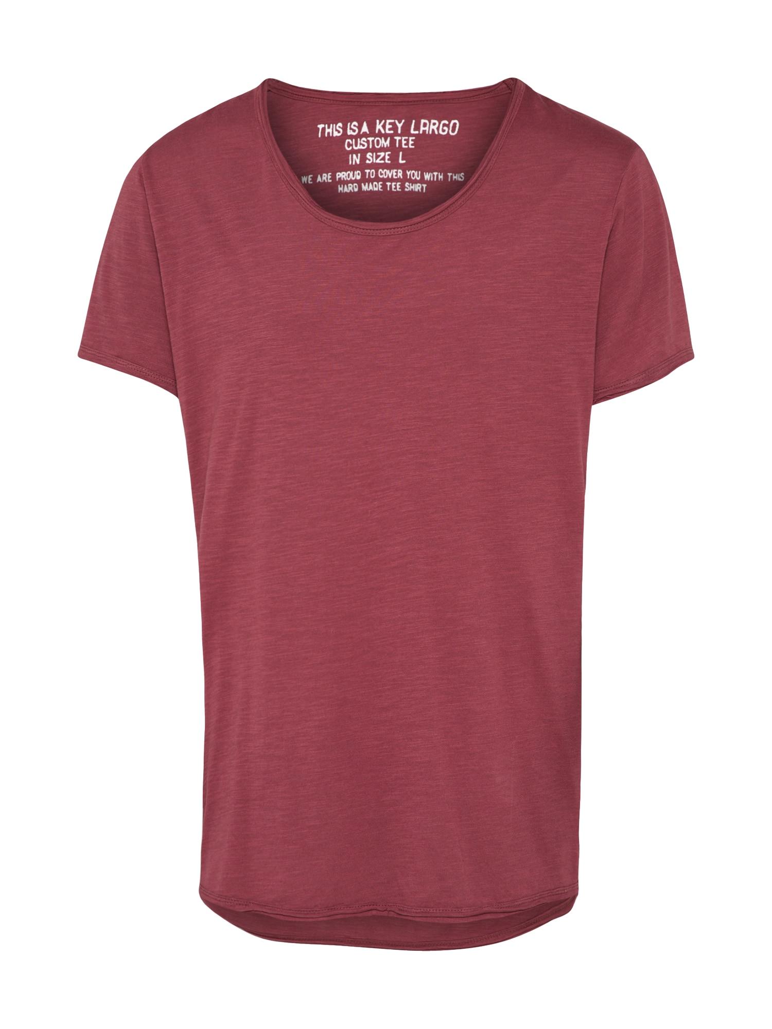 Tričko T BREAD vínově červená Key Largo
