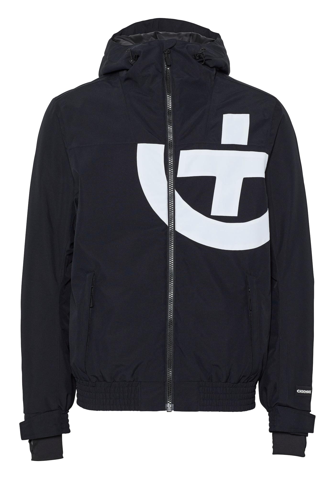 CHIEMSEE Sportovní bunda 'BEAVER CREEK Ski Jacket'  černá / bílá