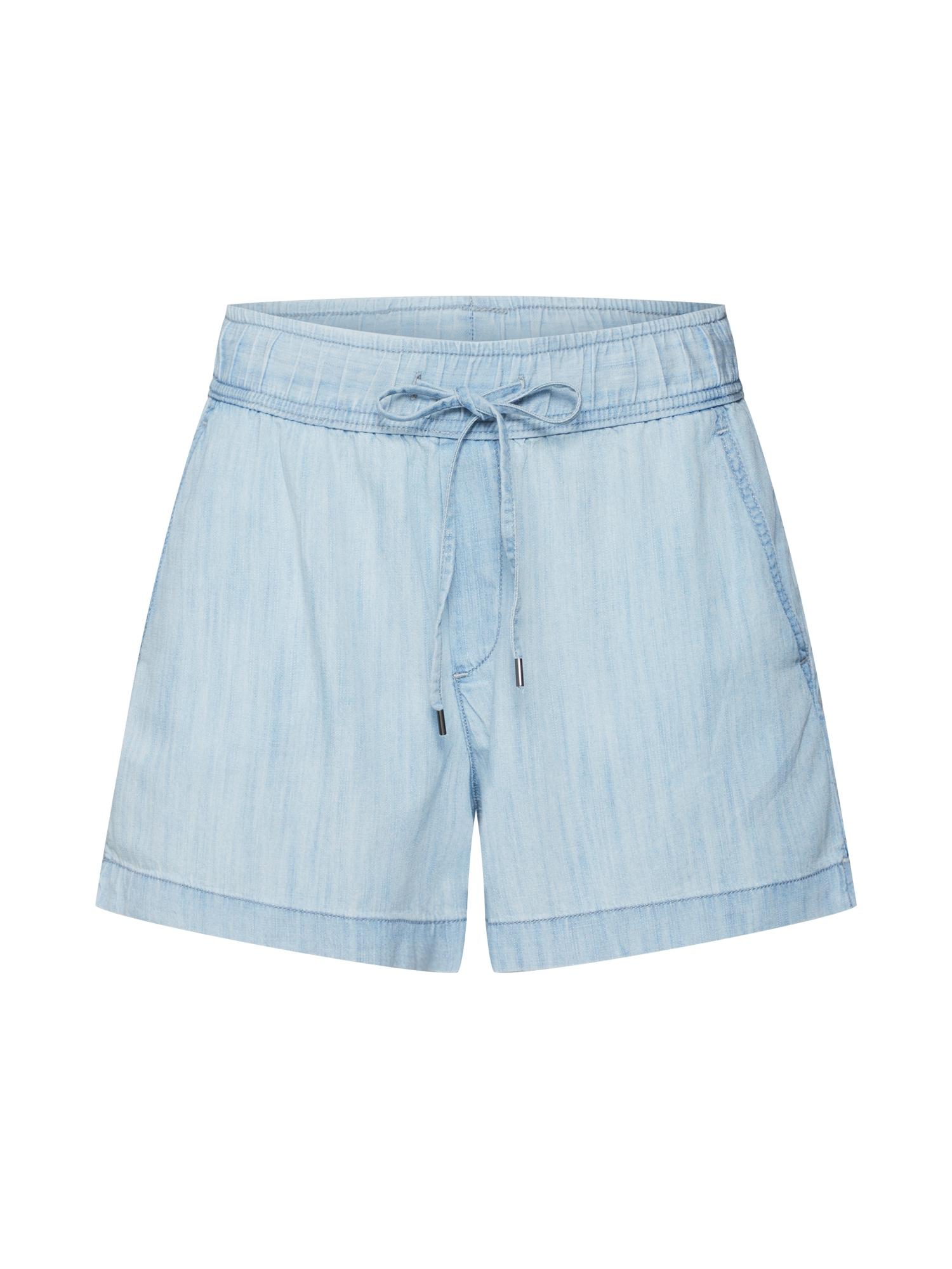Kalhoty CHAMBRAY modrá džínovina světlemodrá GAP