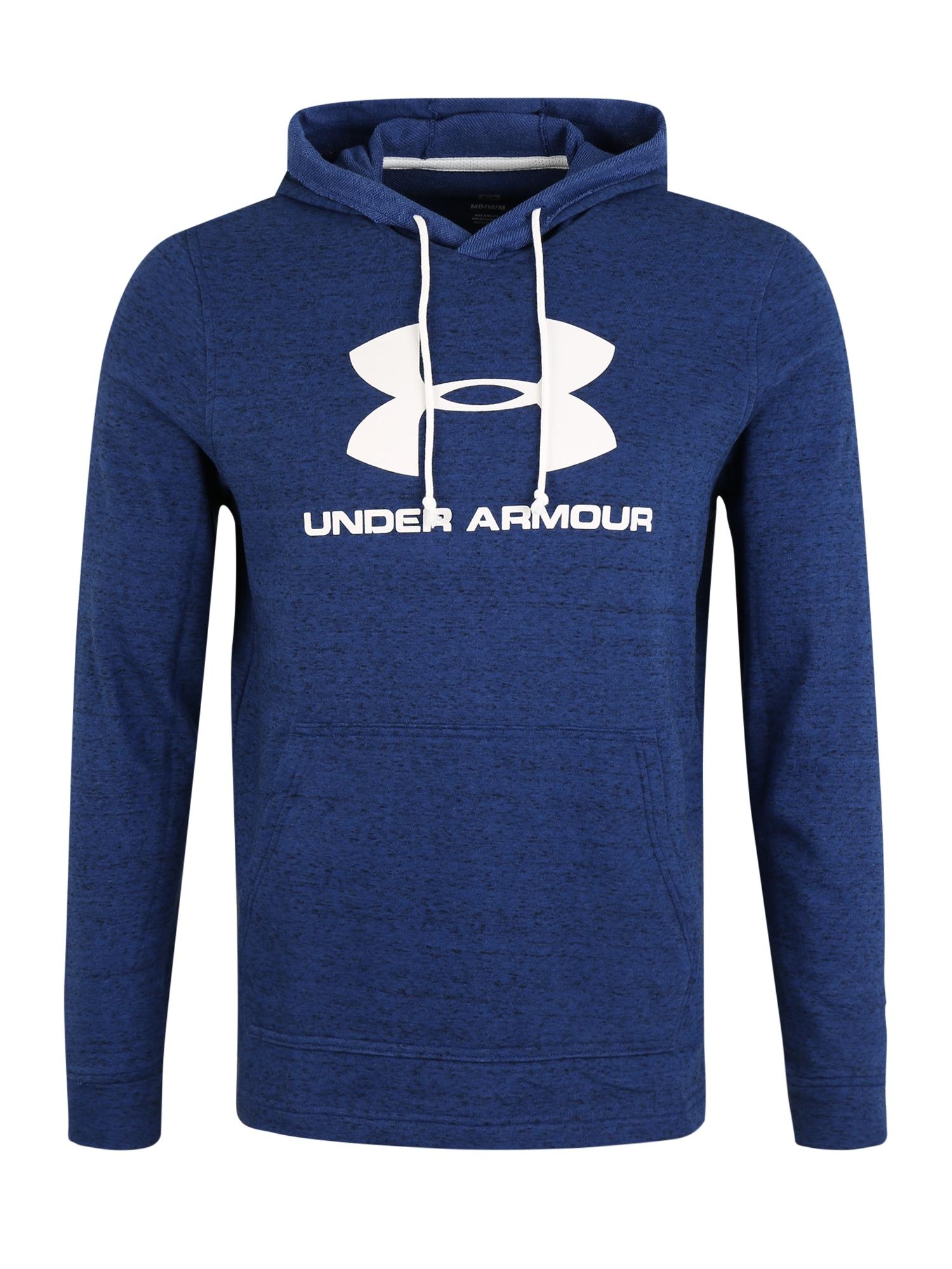 UNDER ARMOUR Sportovní mikina  bílá / modrá