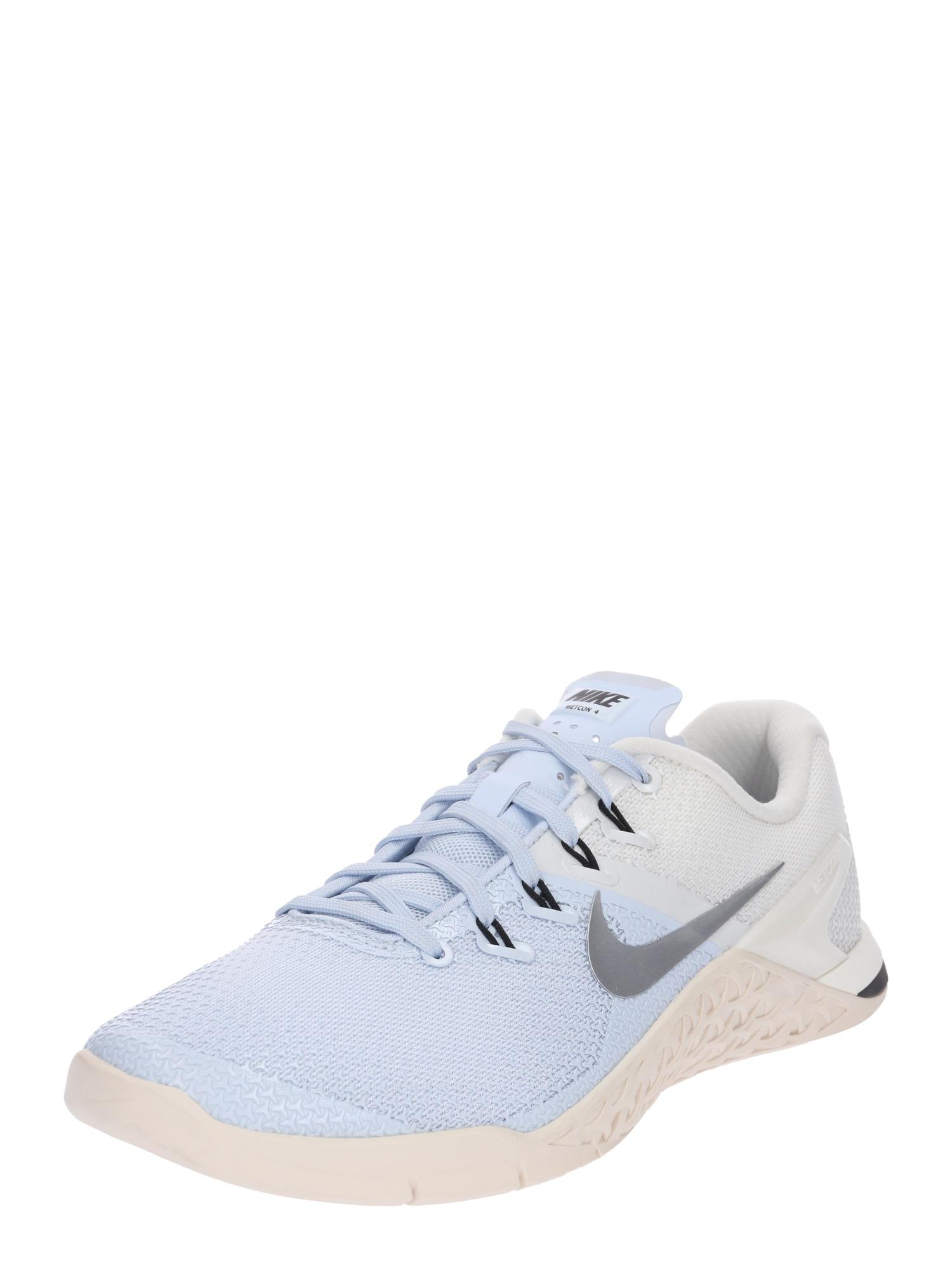 NIKE, Dames Sportschoen 'Nike Metcon 4 XD Metallic', lichtblauw / wit