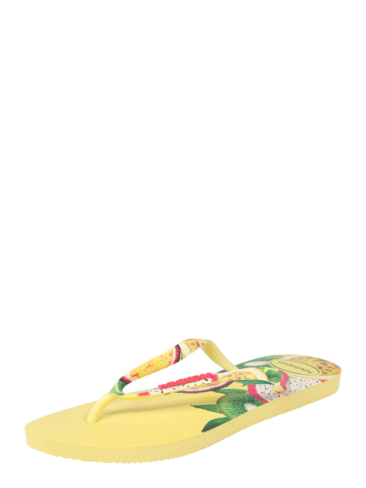 Žabky Slim Sensation žlutá zelená červená HAVAIANAS