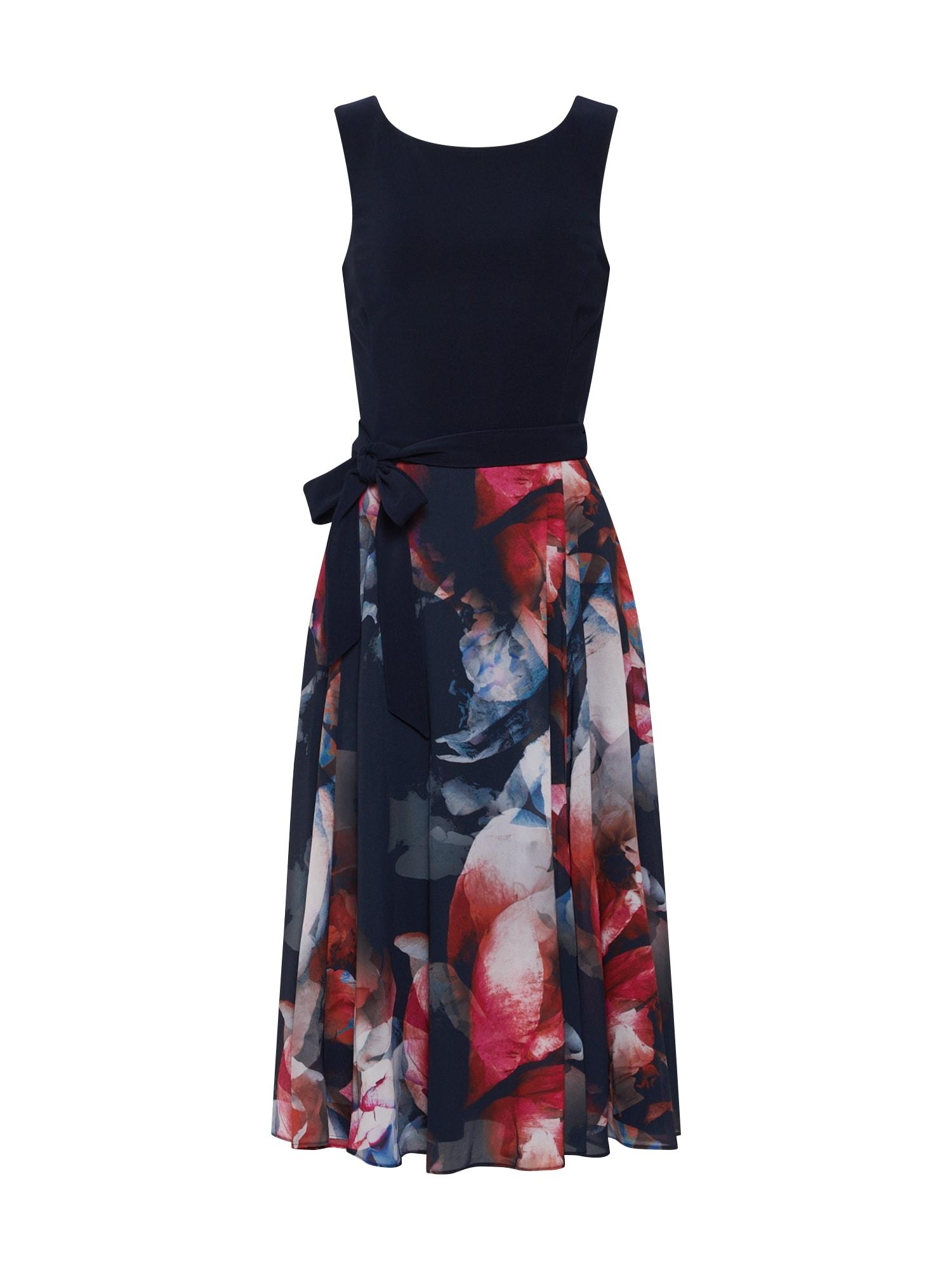 Koktejlové šaty modrá červená Vera Mont