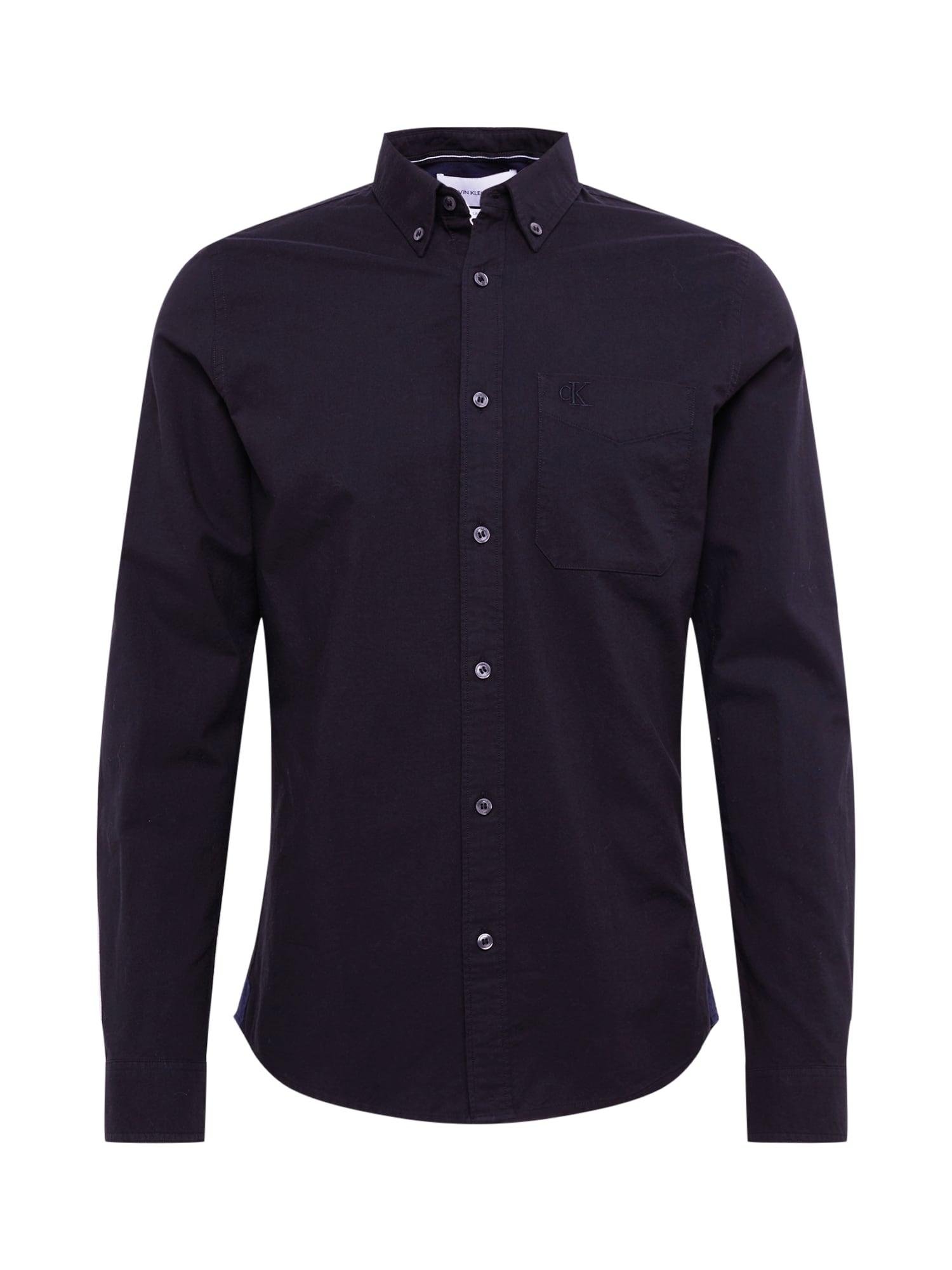 Calvin Klein Jeans Biznis košeľa 'OXFORD SOLID SLIM NON STRETCH'  čierna