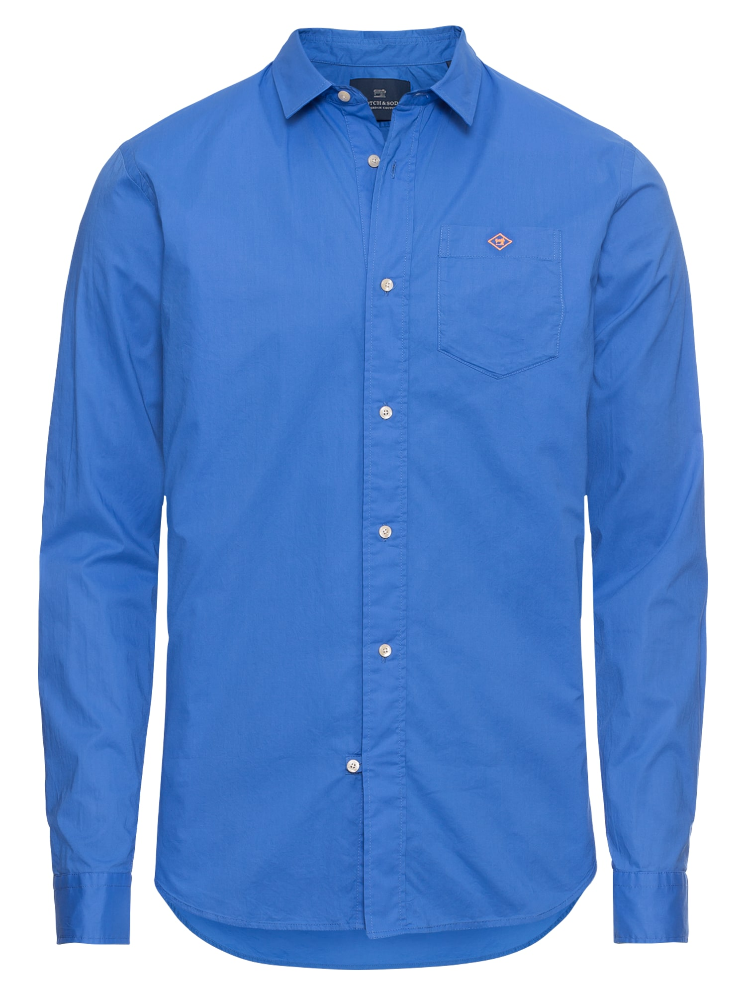SCOTCH  and  SODA Heren Overhemd High summer voile shirt royal blue koningsblauw