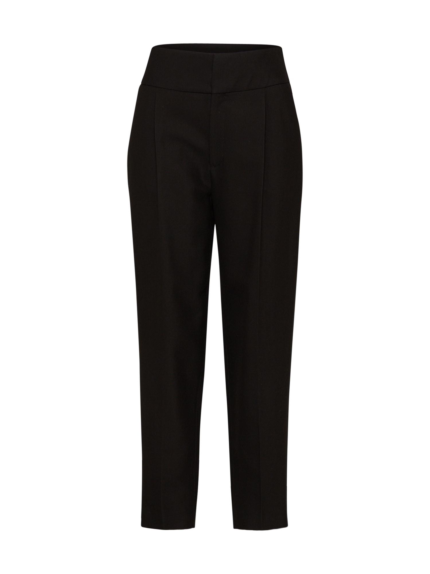 Kalhoty se sklady v pase Kylie černá Filippa K