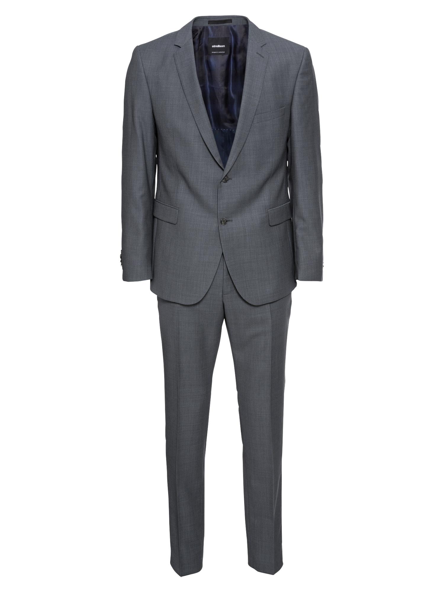 Oblek Rick-Jans 10005958 kouřově modrá STRELLSON