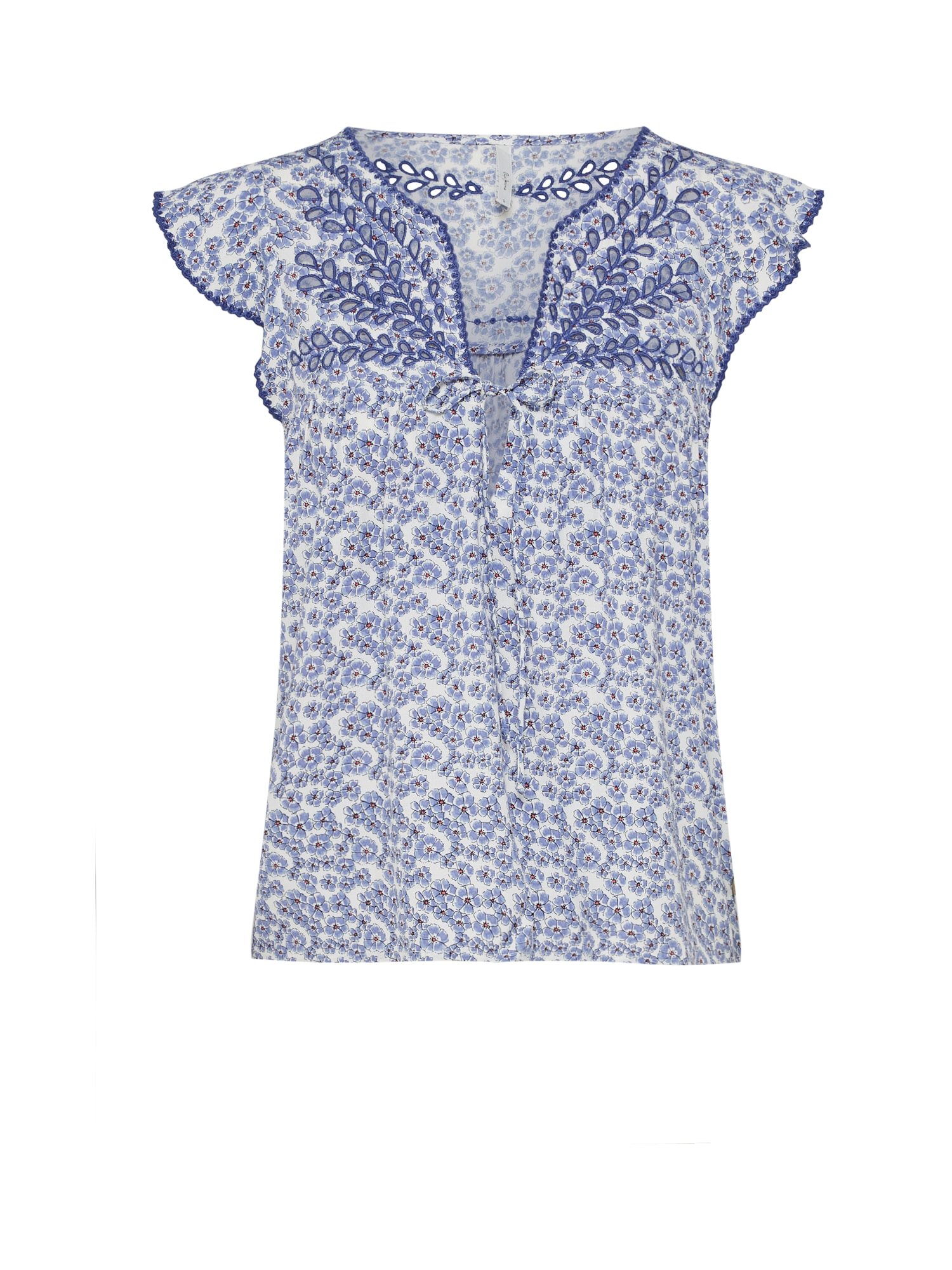 Pepe Jeans Dames Blouse COCO duifblauw wit