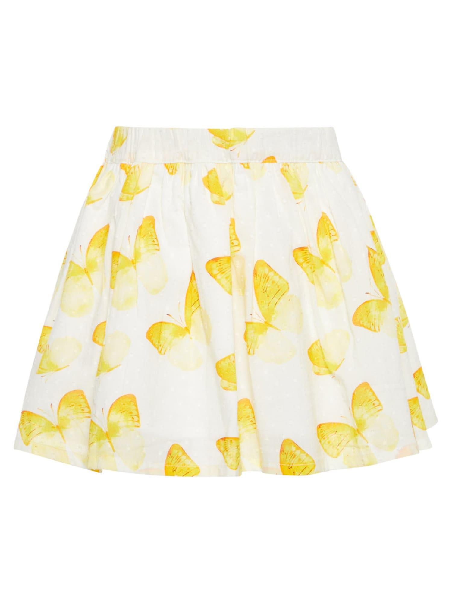 Name it Meisjes Rok geel / wit