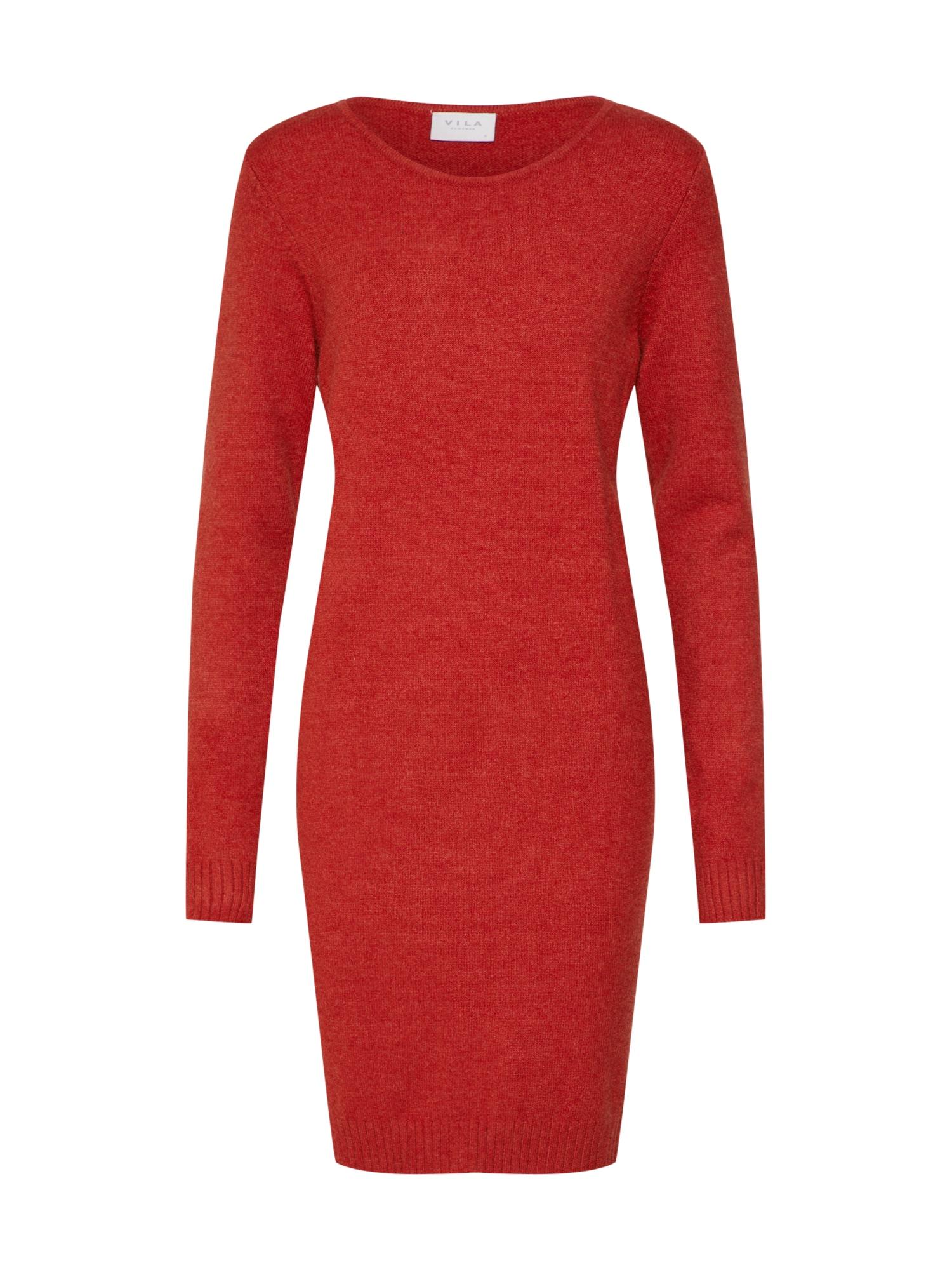 Úpletové šaty červená VILA