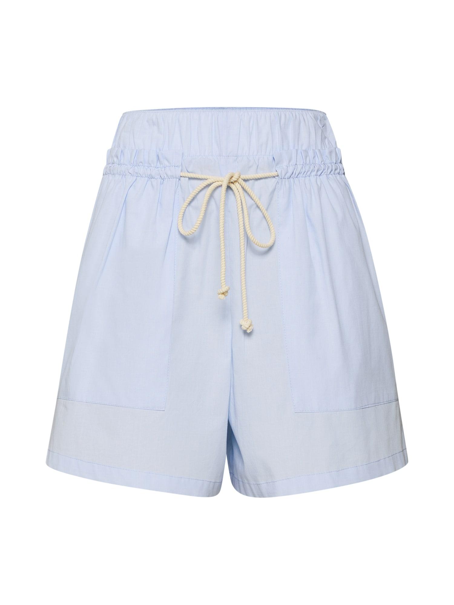 Kalhoty se sklady v pase MIGHT světlemodrá DRYKORN