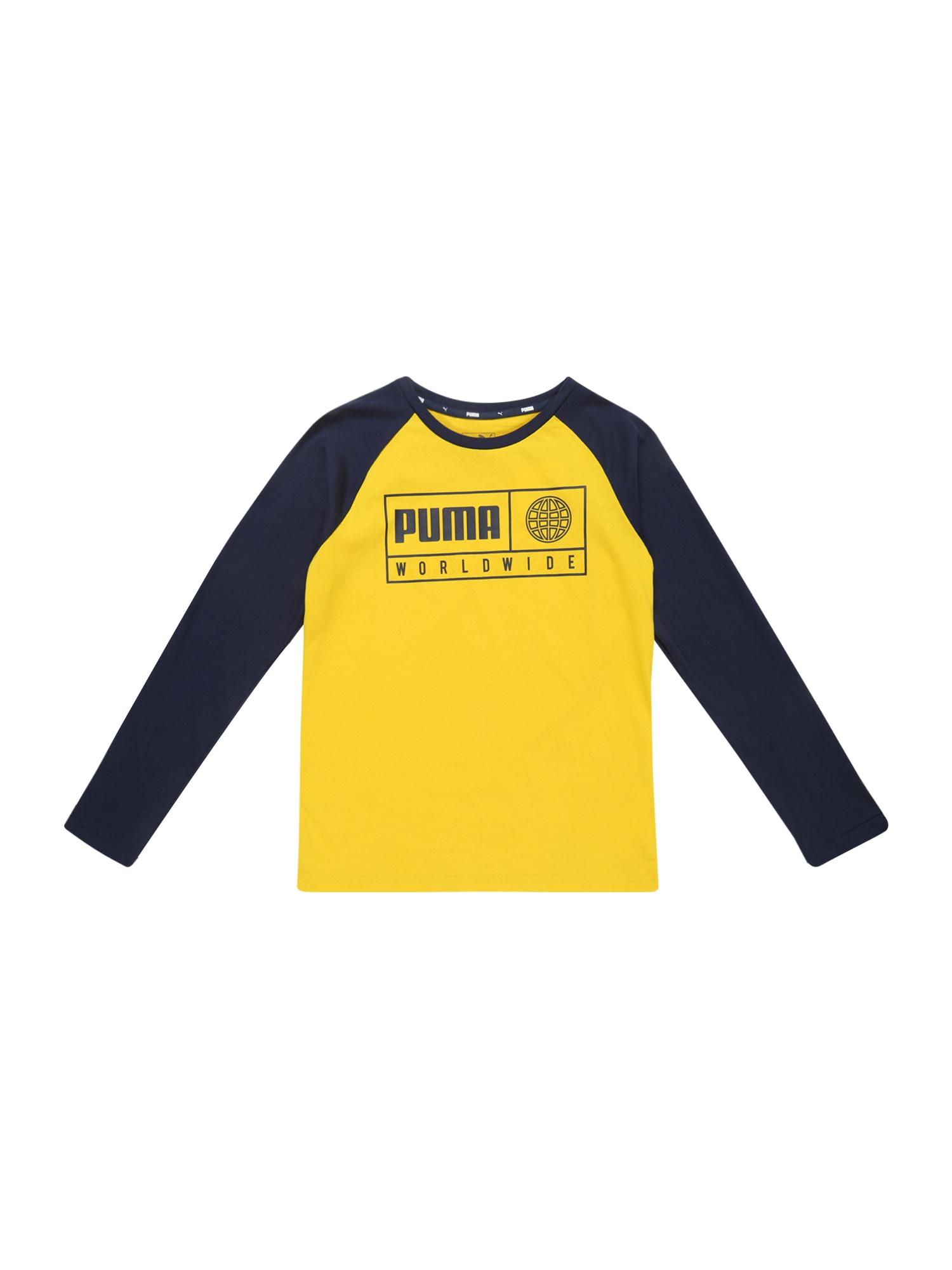 Funkční tričko Alpha Graphic námořnická modř žlutá PUMA