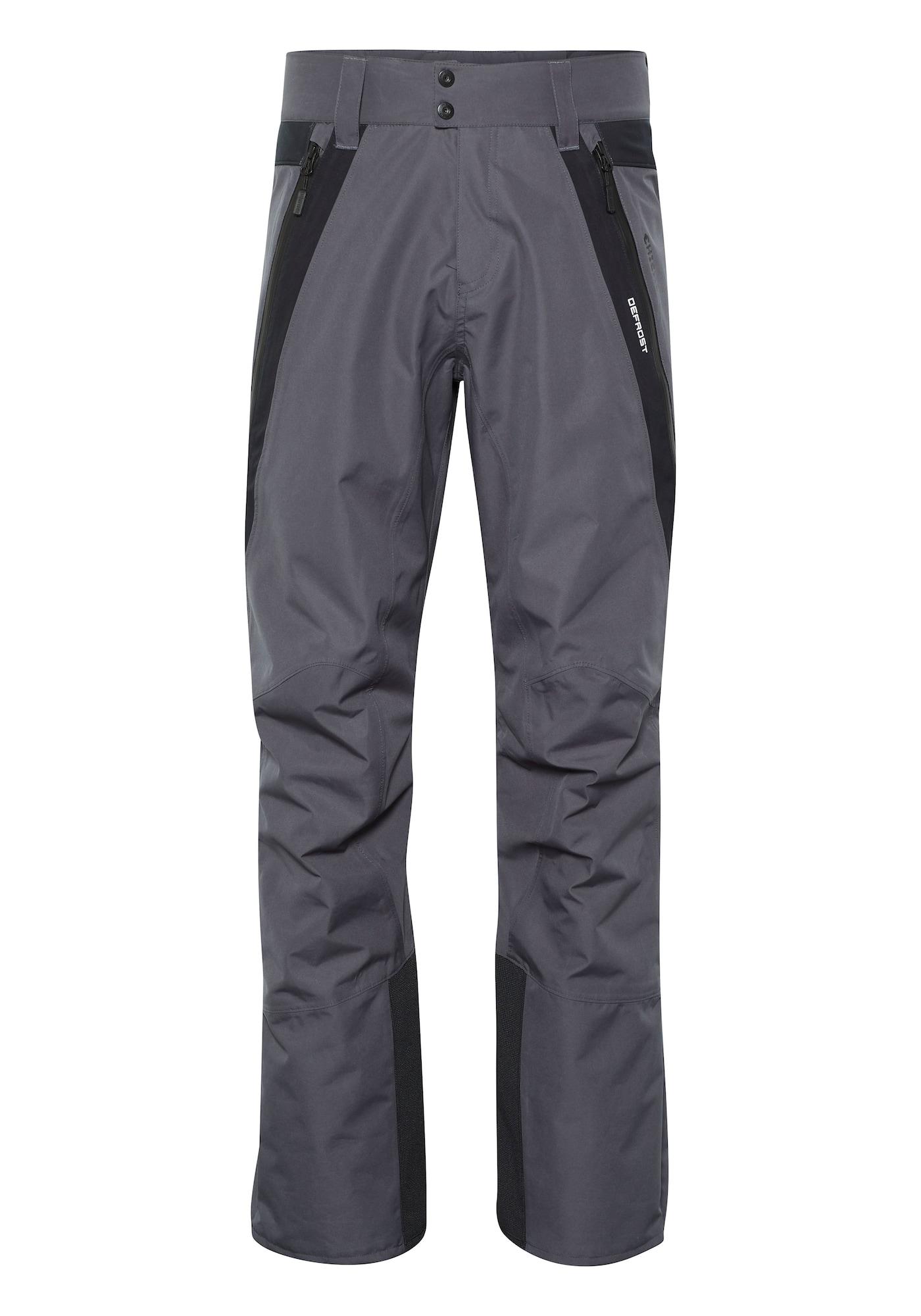 CHIEMSEE Outdoorové kalhoty 'SNOWMASS'  tmavě šedá / černá