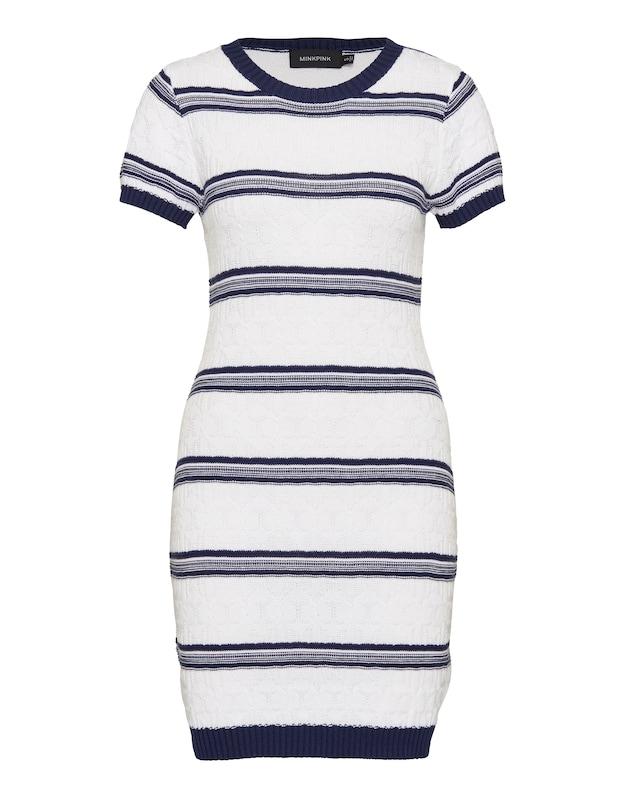 MINKPINK Kleid ´READ BETWEEN THE LINES´ weiß/blau