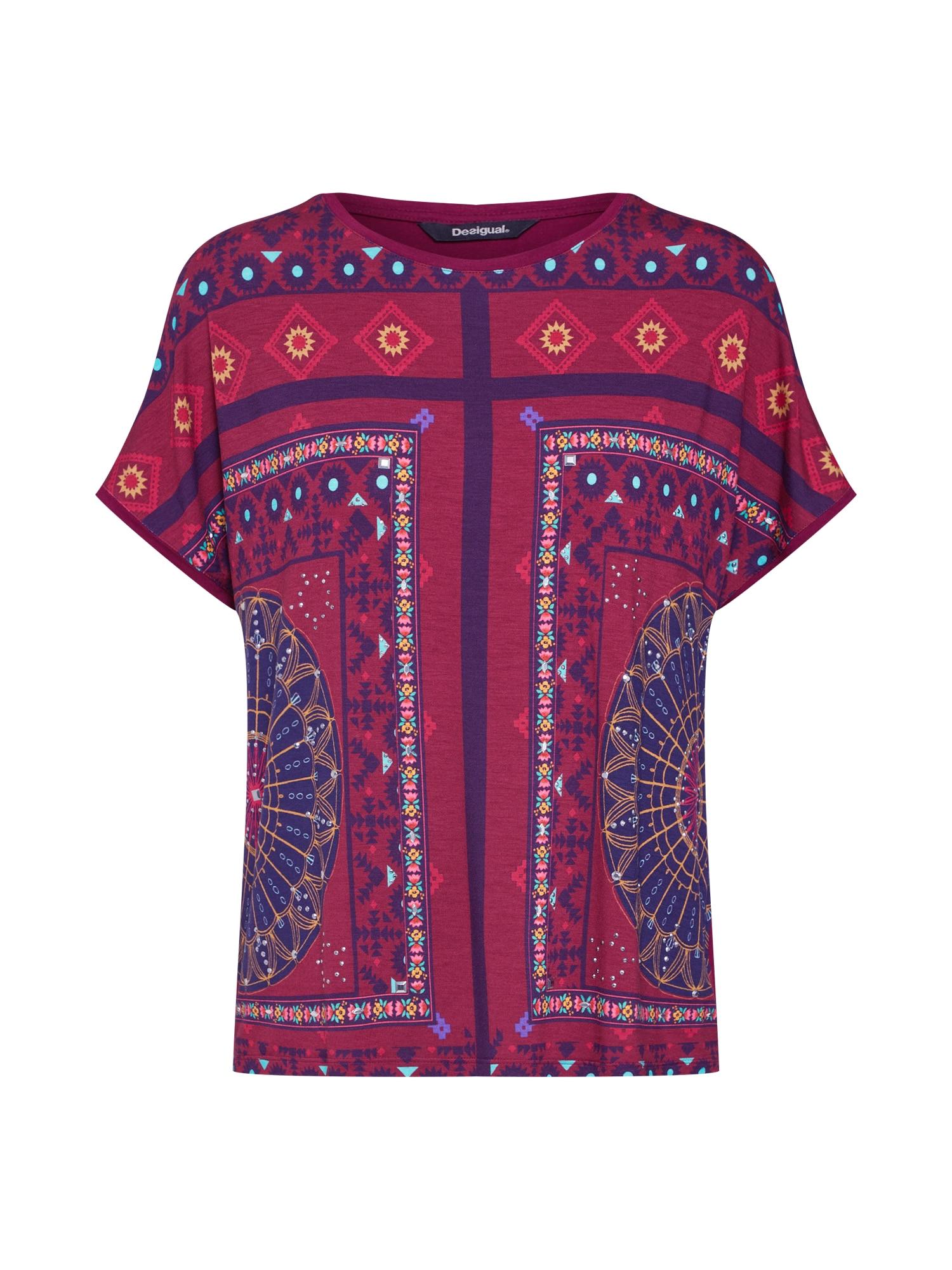 Tričko TS_LARISA mix barev červená Desigual