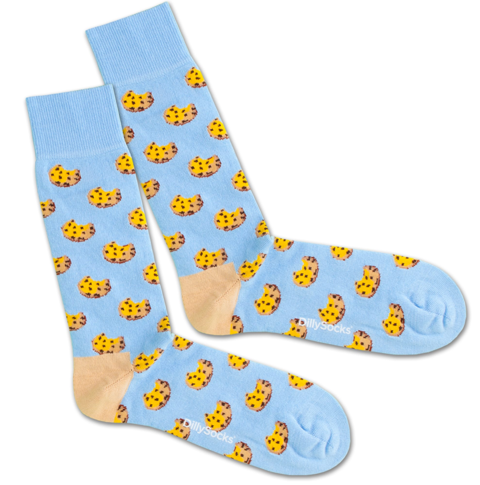 Ponožky Cookie Water modrá žlutá DillySocks
