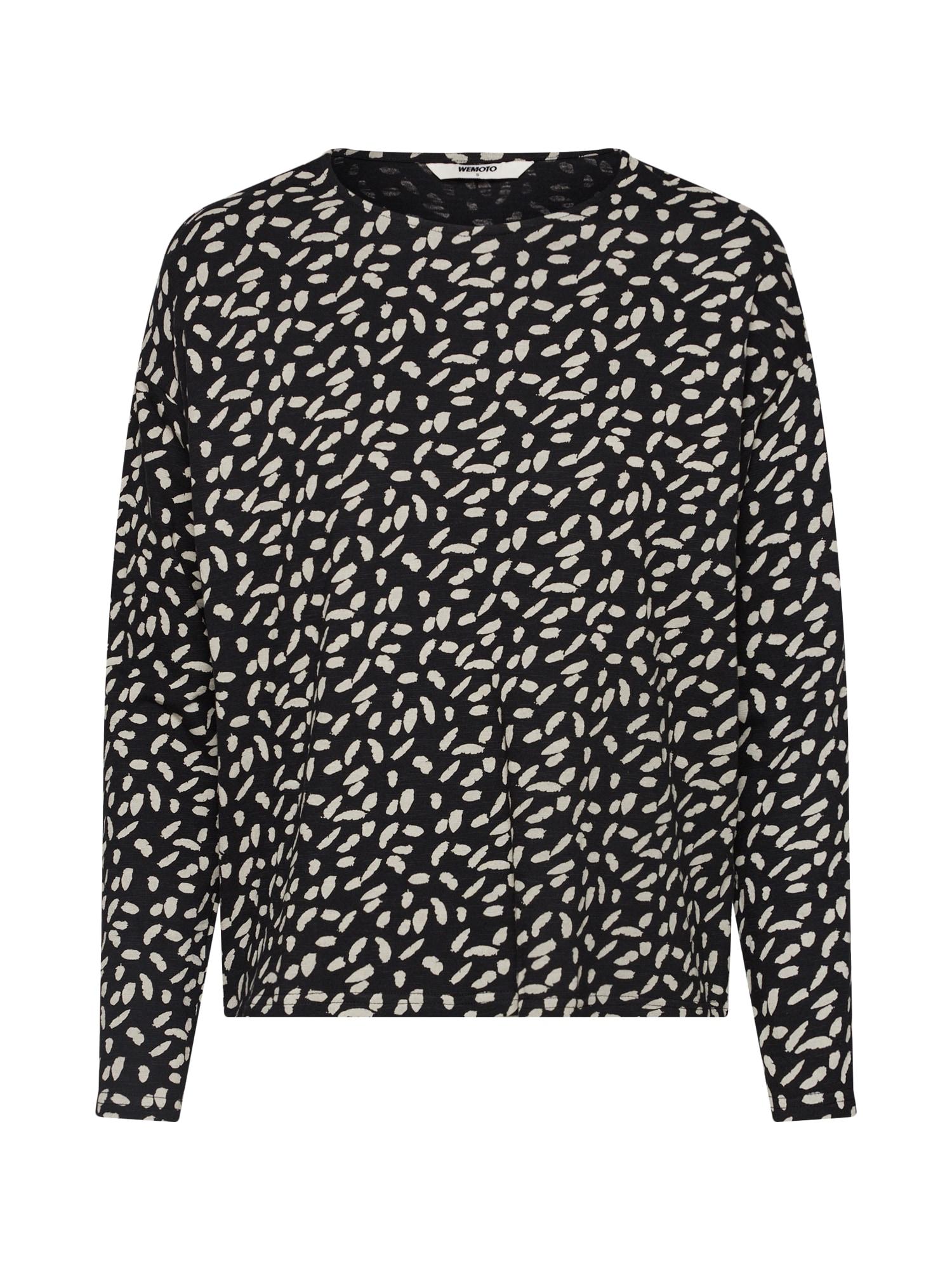 Tričko Driver Printed černá perlově bílá Wemoto