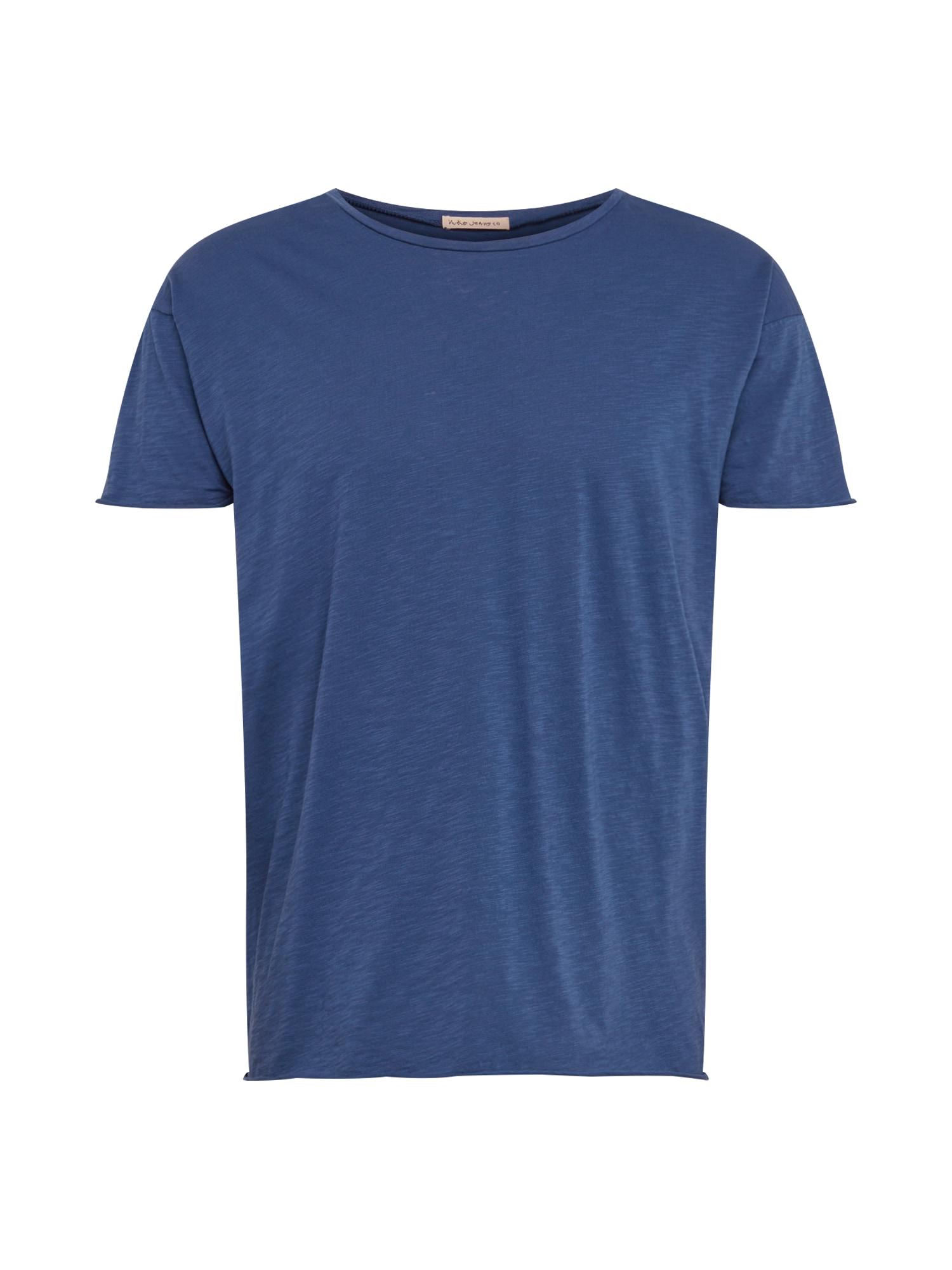 Tričko Roger Slub  modrá Nudie Jeans Co
