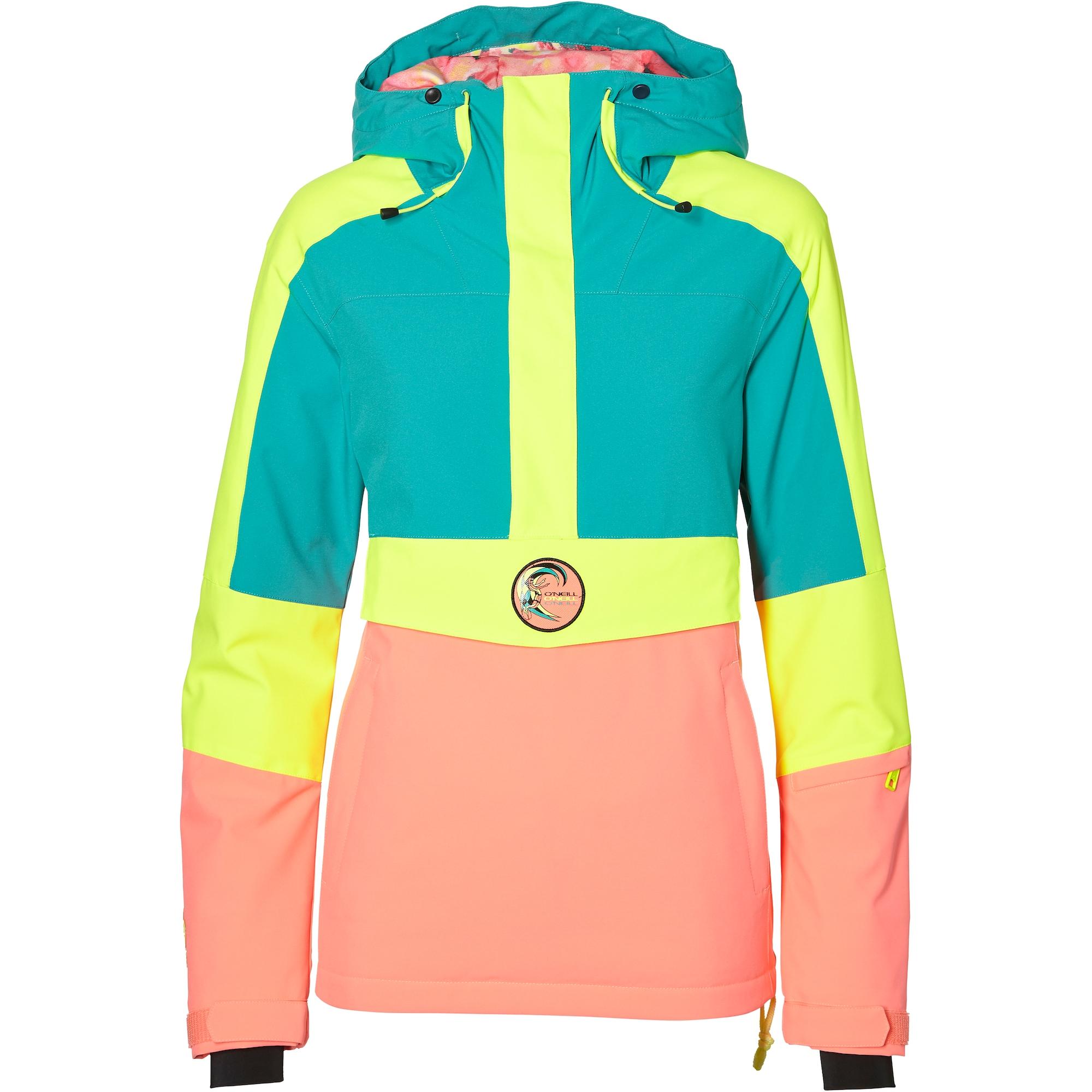 ONEILL Sportovní bunda žlutá zelená starorůžová O'NEILL