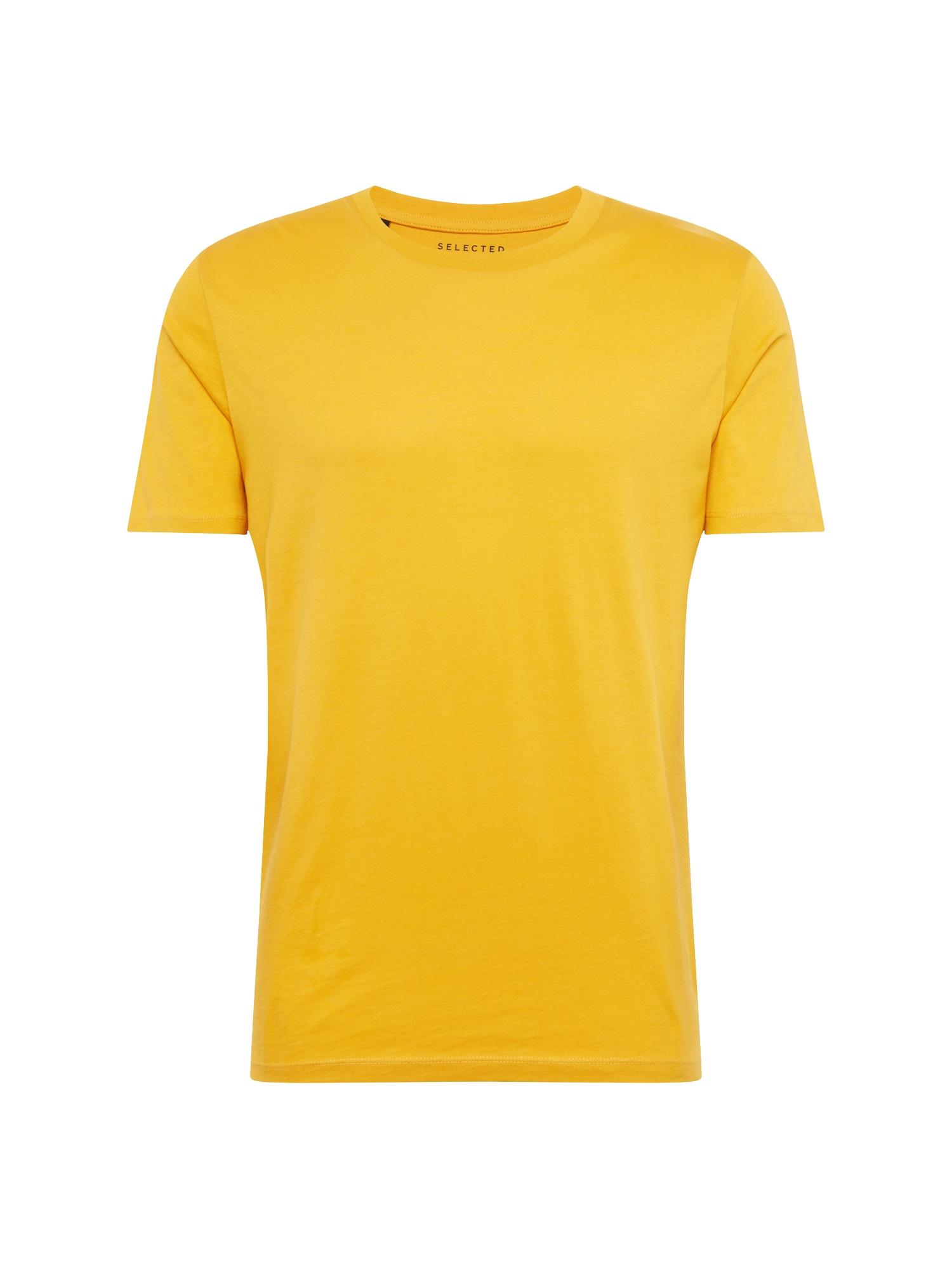 Tričko SHDTHEPERFECT žlutá SELECTED HOMME