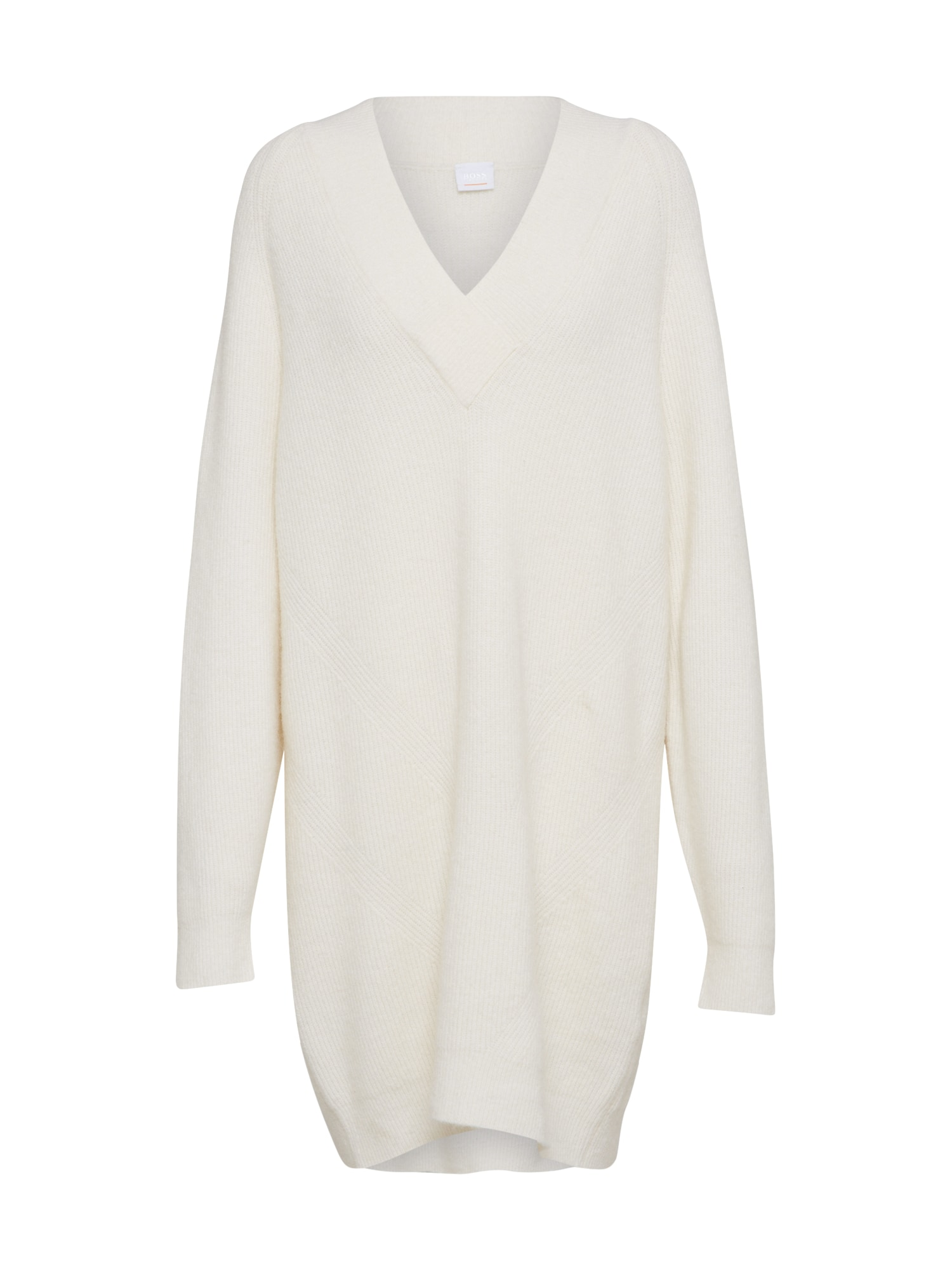 Úpletové šaty Ixanna bílá BOSS
