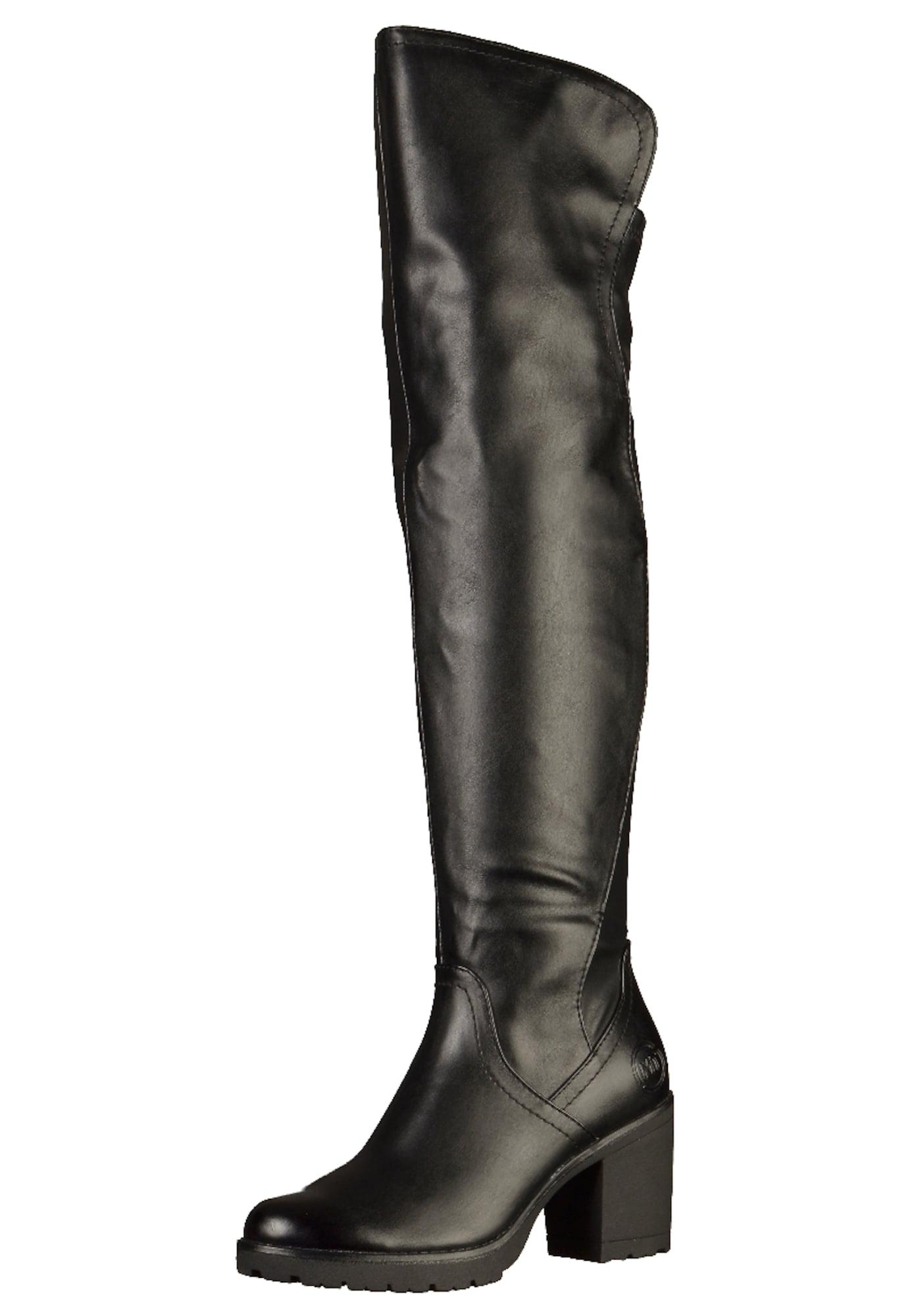 MARCO TOZZI, Dames Overknee laarzen, zwart