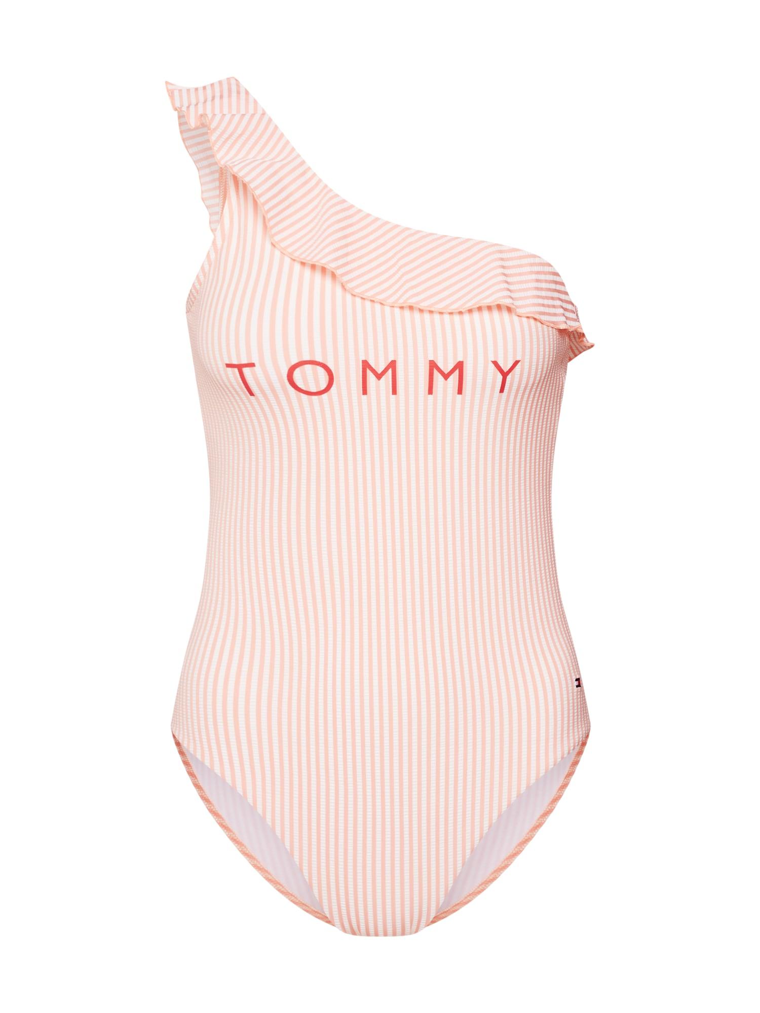 Plavky růžová bílá Tommy Hilfiger Underwear