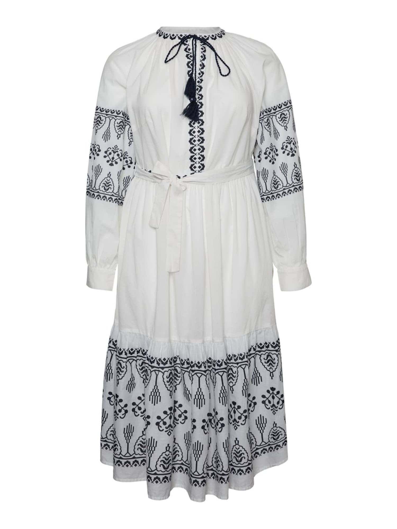 Vero Moda Curve Šaty  černá / bílá