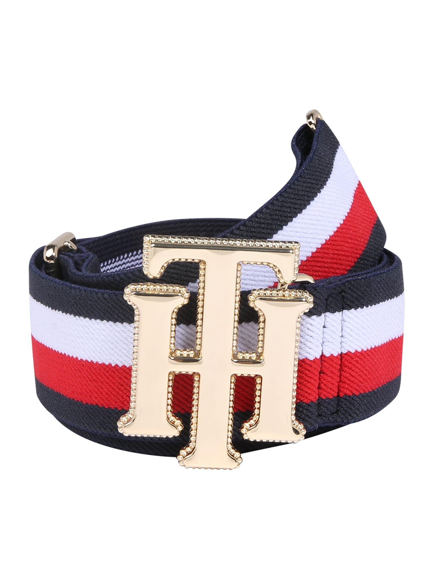Opasek New Fashion Elastic Belt  tmavě modrá červená bílá TOMMY HILFIGER