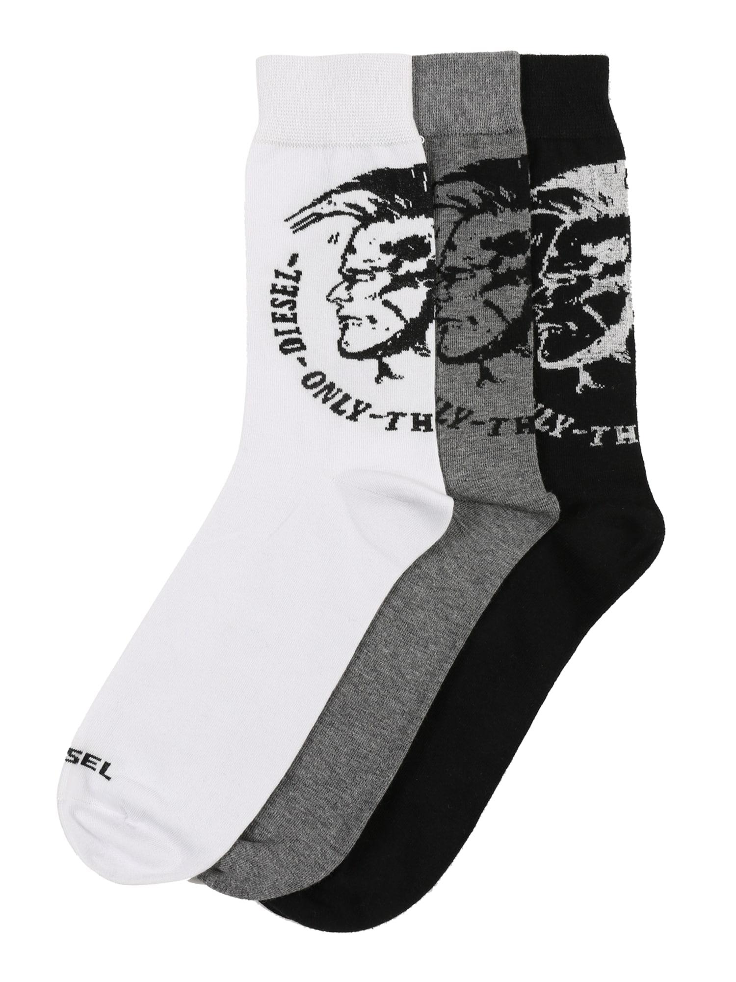 Ponožky SKM-RAY šedá černá bílá DIESEL