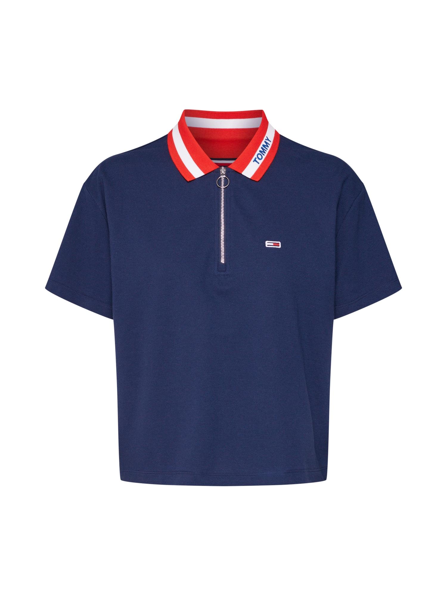 Tričko TJW TOMMY BRANDED COLLAR POLO námořnická modř červená Tommy Jeans