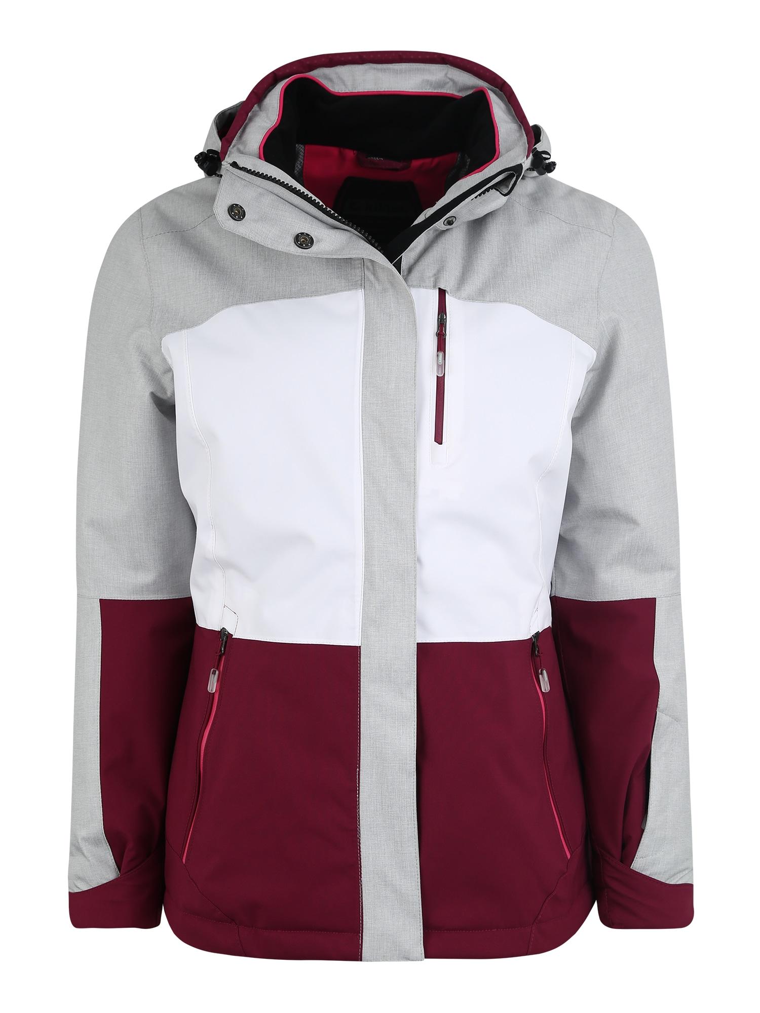 Outdoorová bunda Sewia světle šedá bordó bílá KILLTEC
