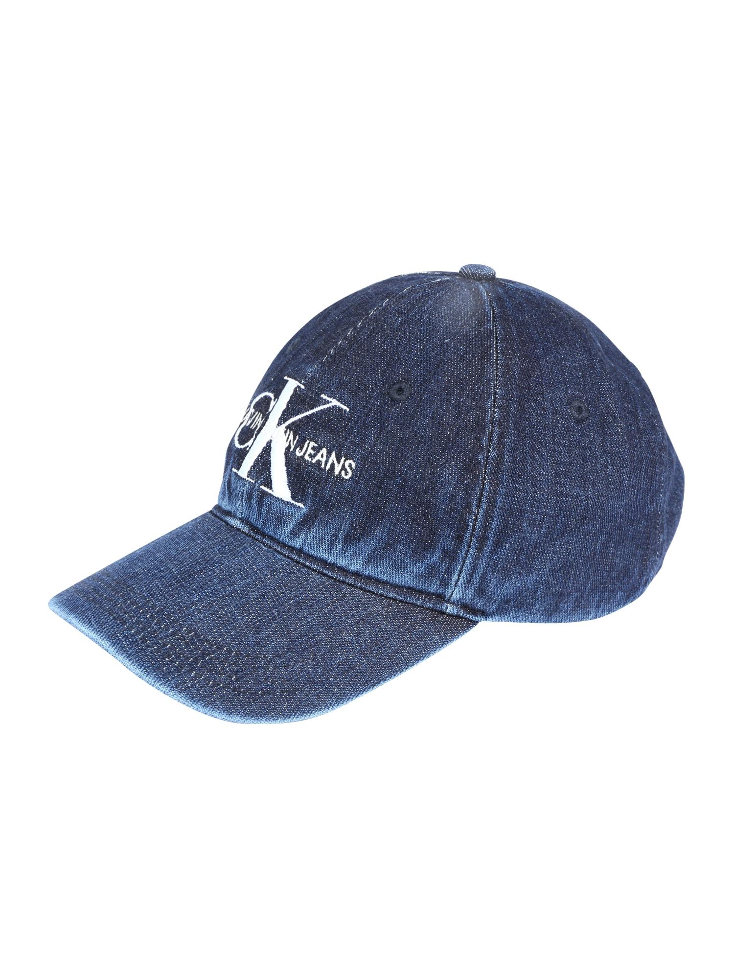 Čepice J Monogram Denim Cap W modrá džínovina Calvin Klein Jeans