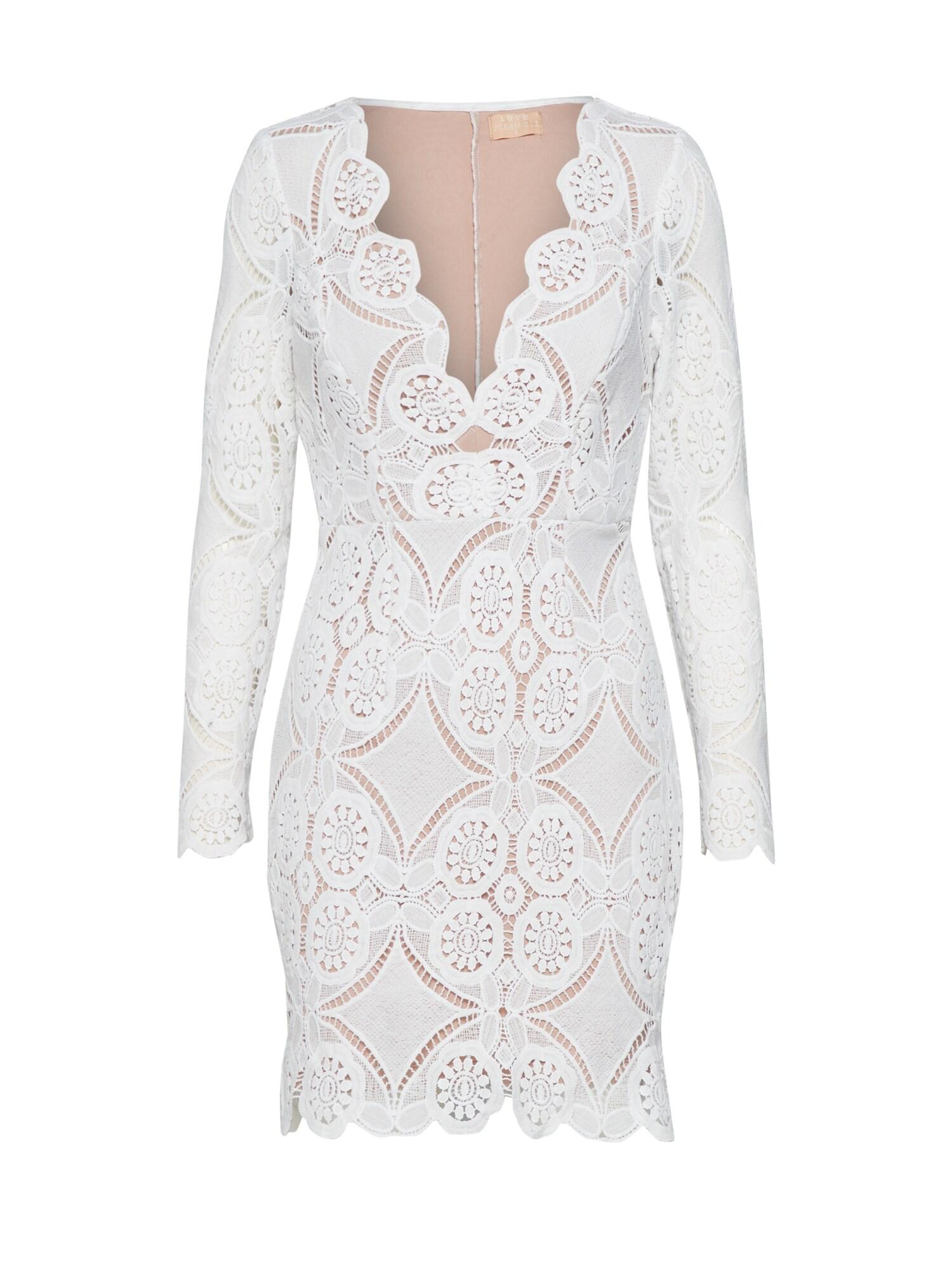Pouzdrové šaty ATOMIC bílá Love Triangle