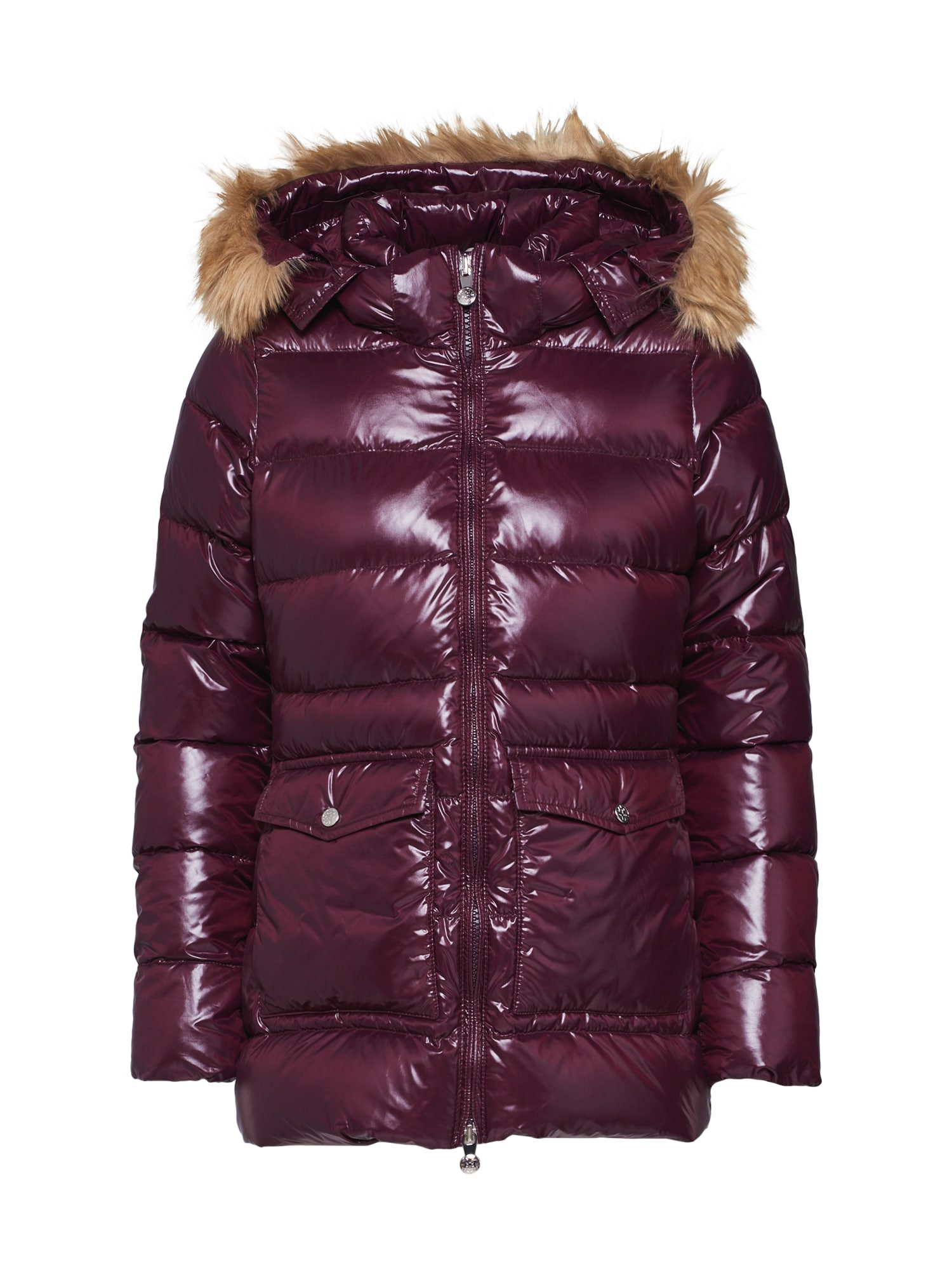 PYRENEX Zimná bunda 'AUTHENTIC JACKET SHINY SYNTHETIC FUR'  baklažánová