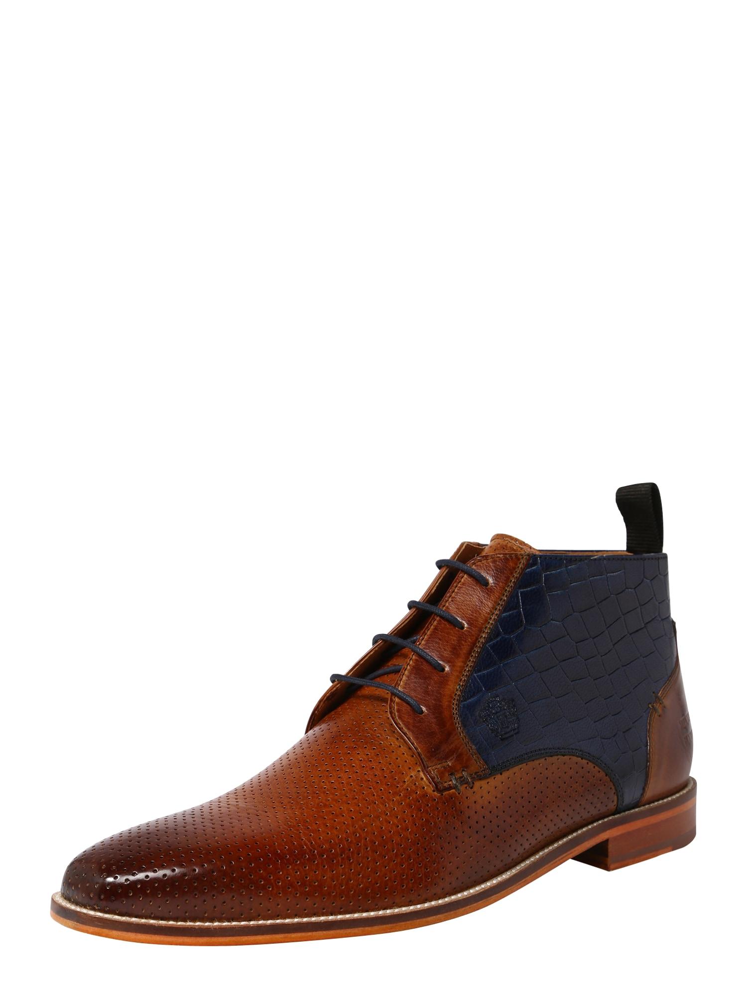 Šněrovací boty Alex 11 námořnická modř hnědá MELVIN & HAMILTON