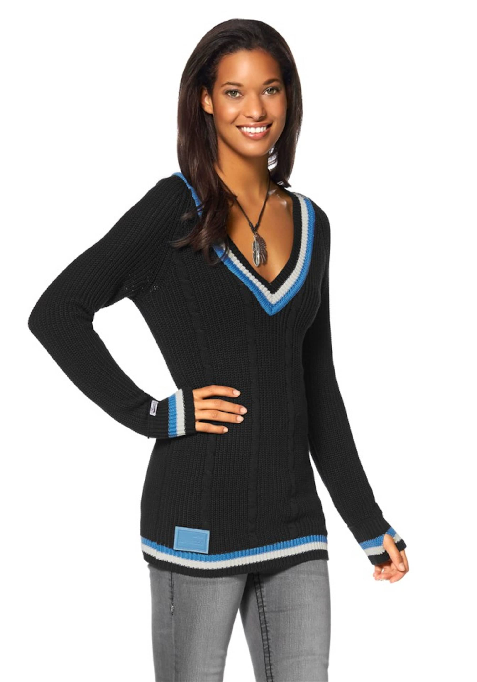 KangaROOS Sweter  niebieski ultramaryna / błękitny / biały