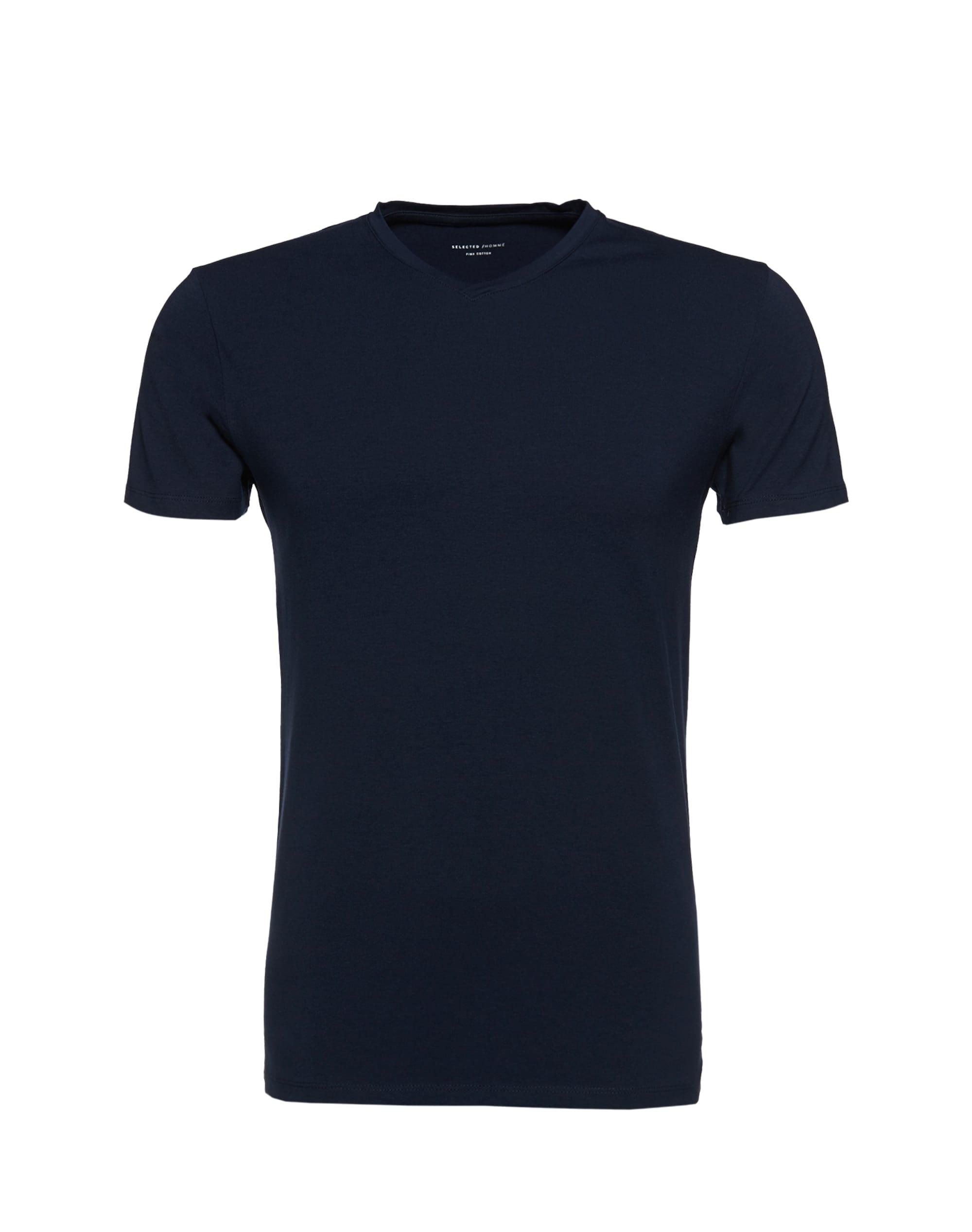 selected homme - V-Ausschnitt-Shirt aus Pima-Baumwolle