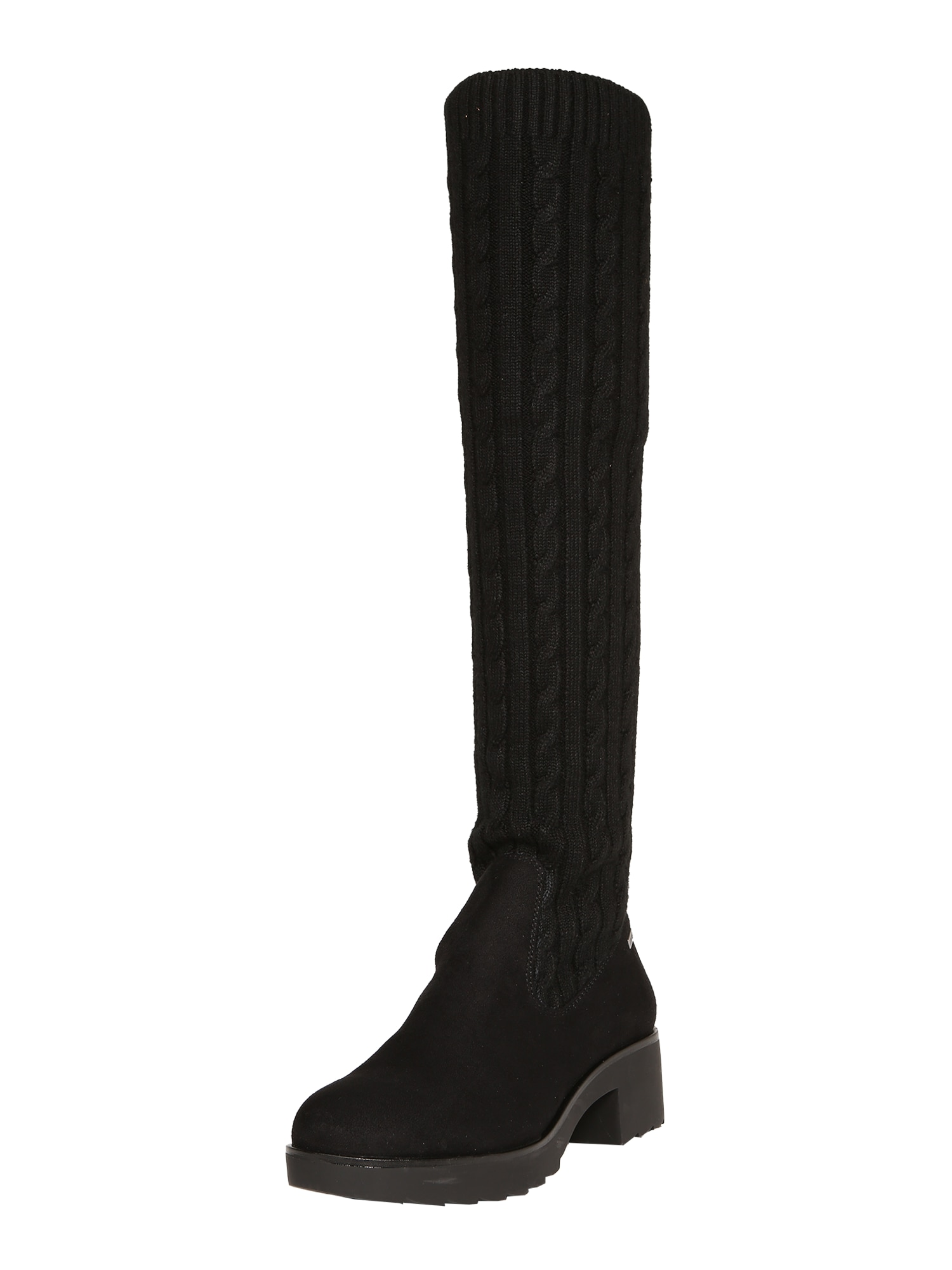 MTNG, Dames Overknee laarzen 'ELSA', zwart