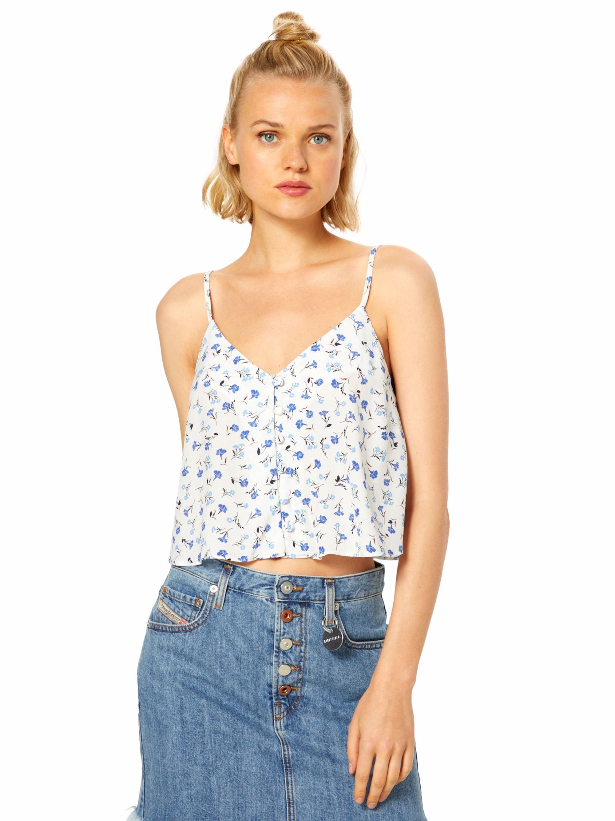 NEW LOOK Top  jasnoniebieski / jasnozielony / perłowo biały