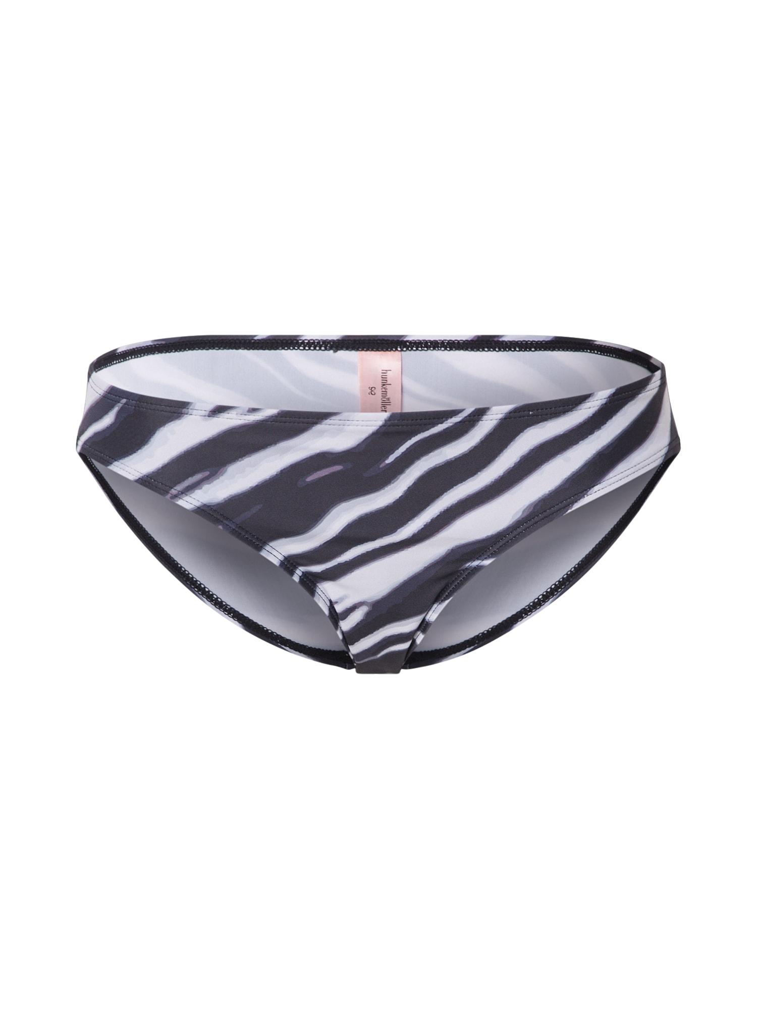 Hunkemöller Spodní díl plavek 'Zebra Regular Rio'  černá