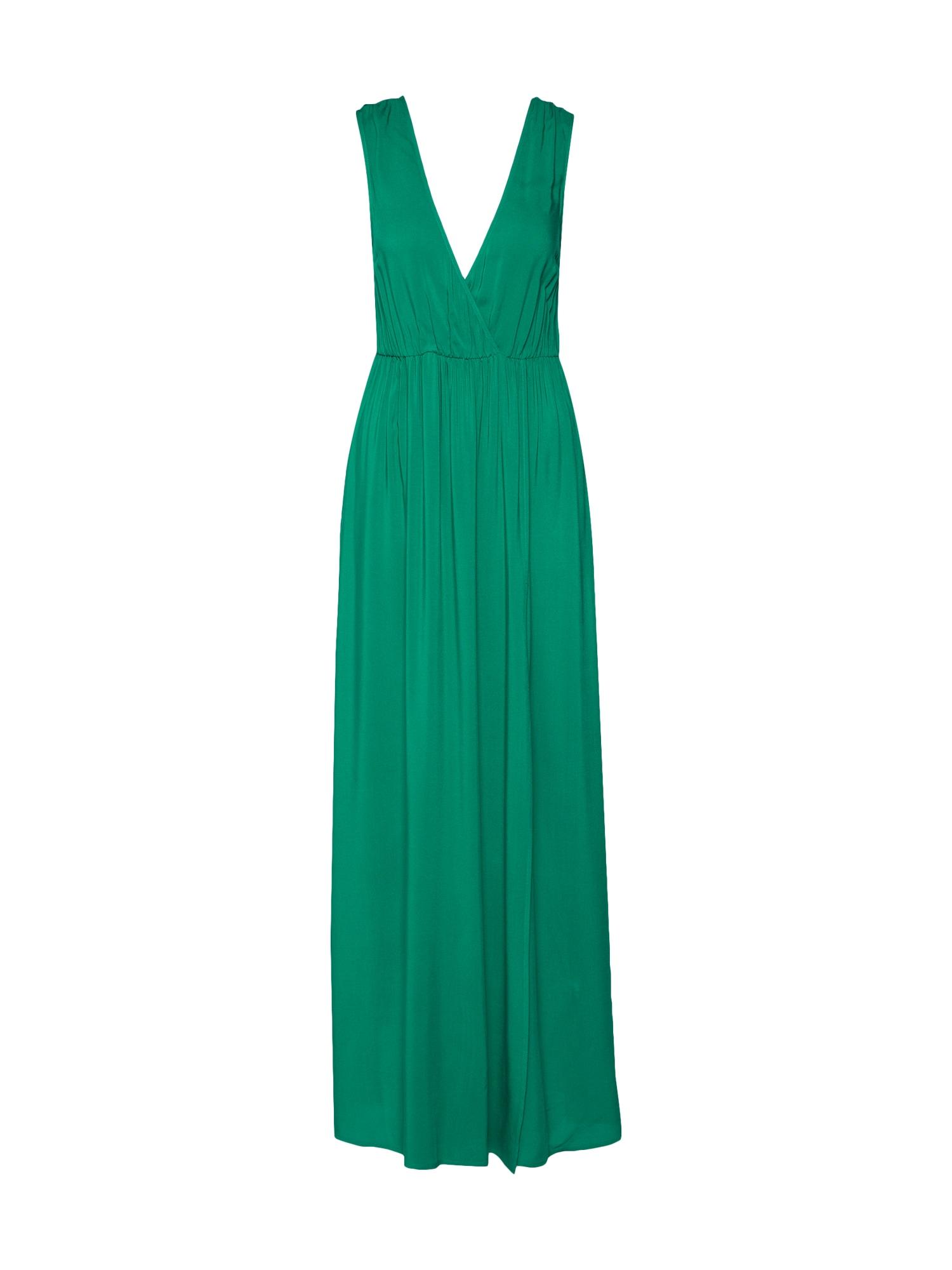 Letní šaty MAXI DRESS WITH SLIT tmavě zelená IVYREVEL