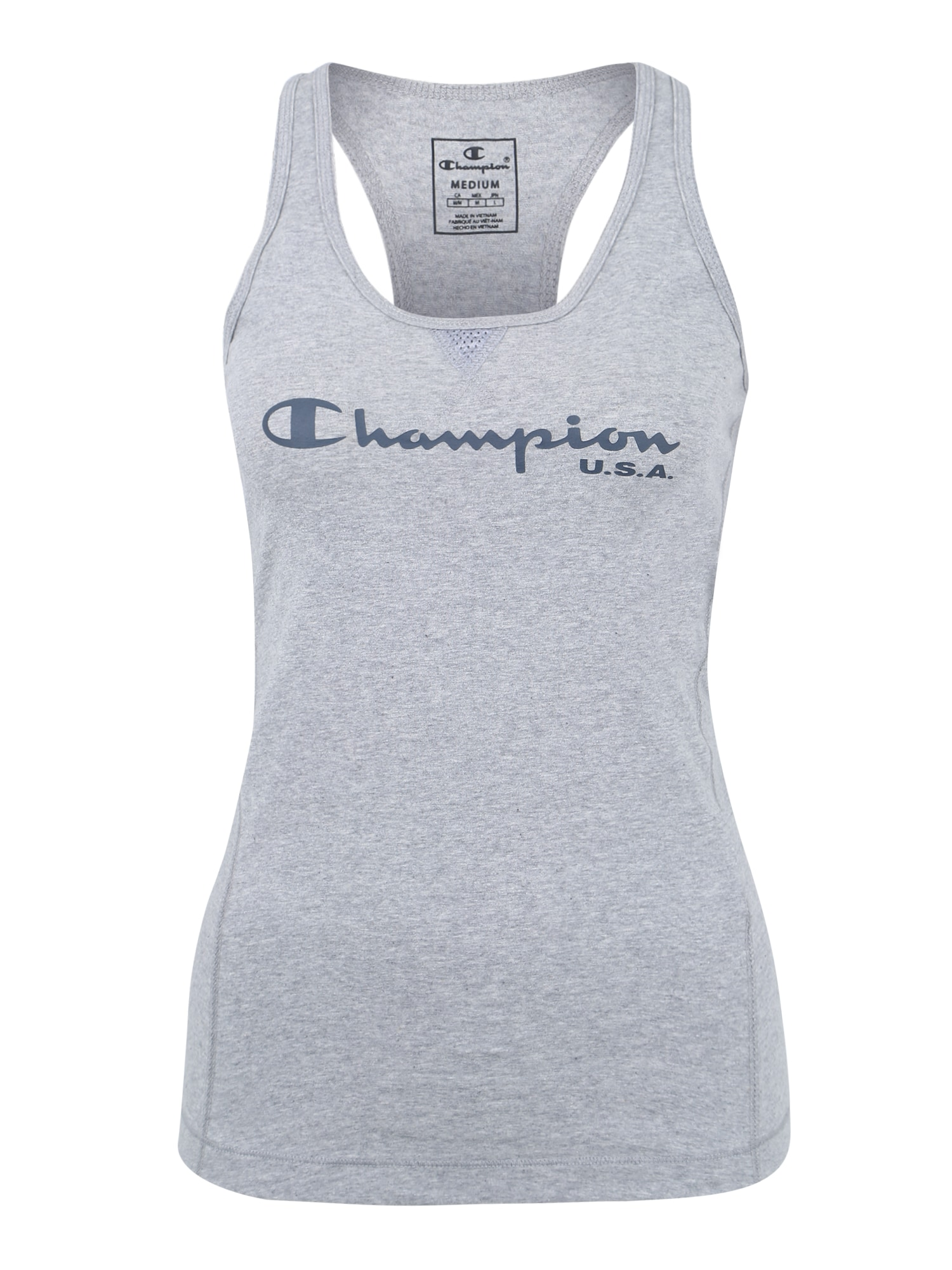 Sportovní top šedá černá Champion Authentic Athletic Apparel