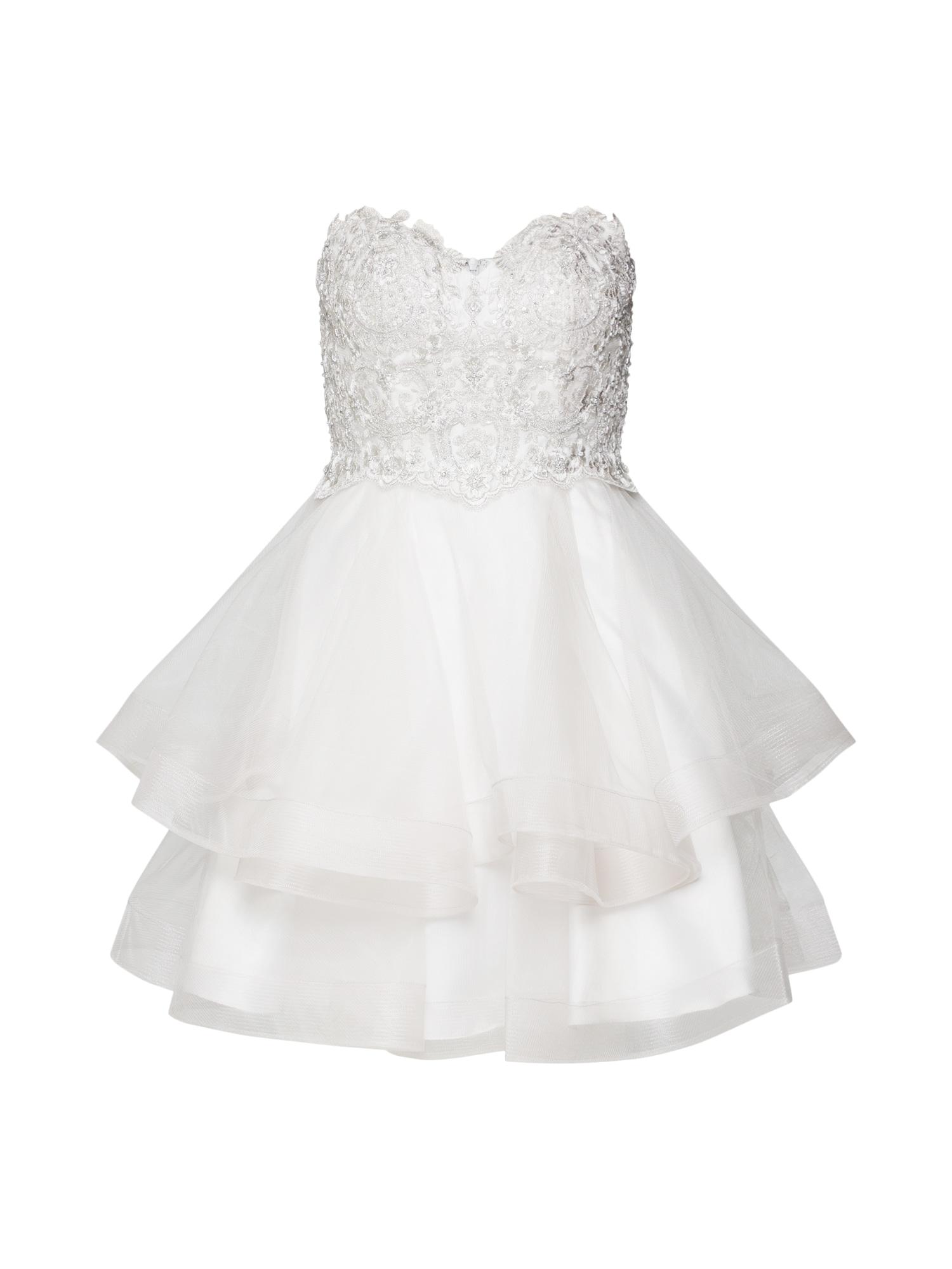 Koktejlové šaty bílá Laona