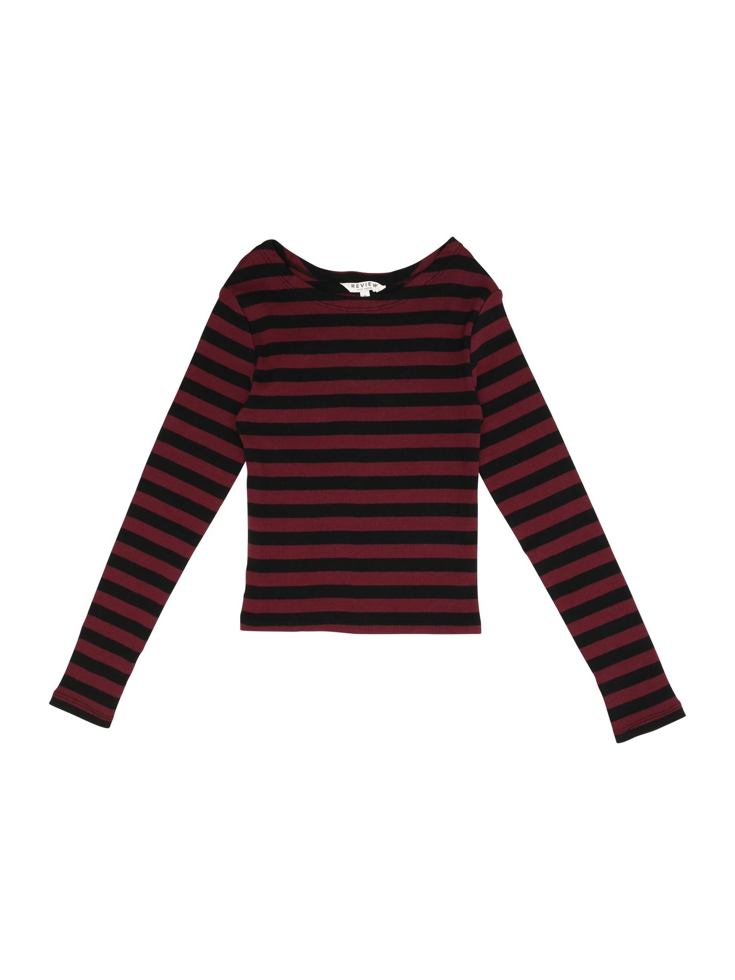 Tričko burgundská červeň REVIEW FOR TEENS